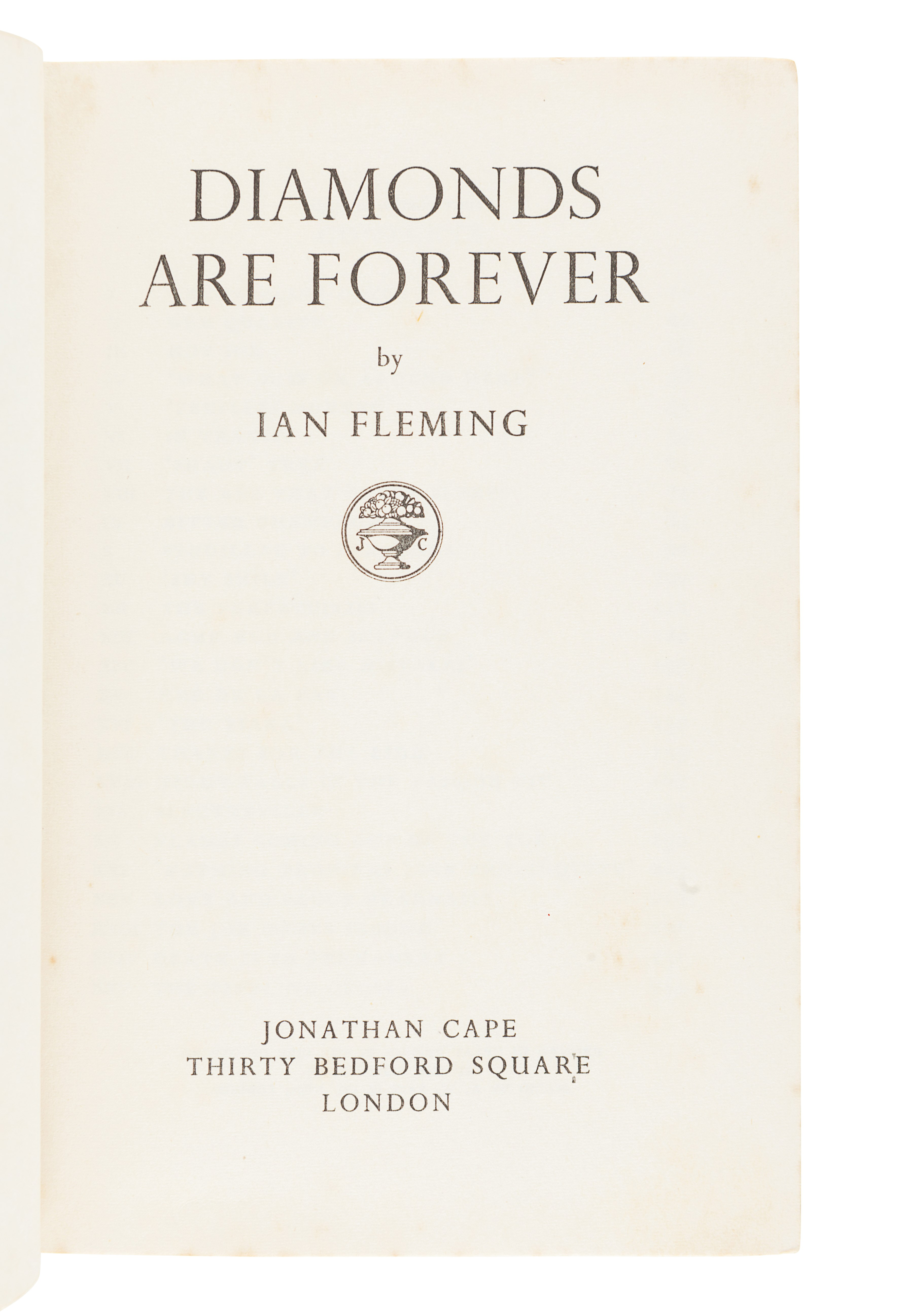 FLEMING, Ian (1908-1964). Diamonds Are Forever. London: Jonathan Cape, 1956. - Image 3 of 3