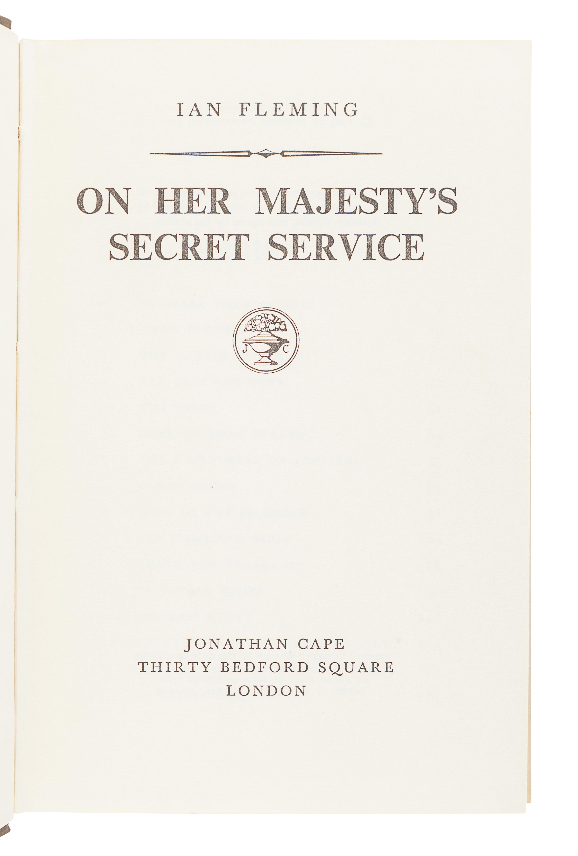 FLEMING, Ian (1908-1964). On Her Majesty's Secret Service. London: Jonathan Cape, 1963. - Image 3 of 3