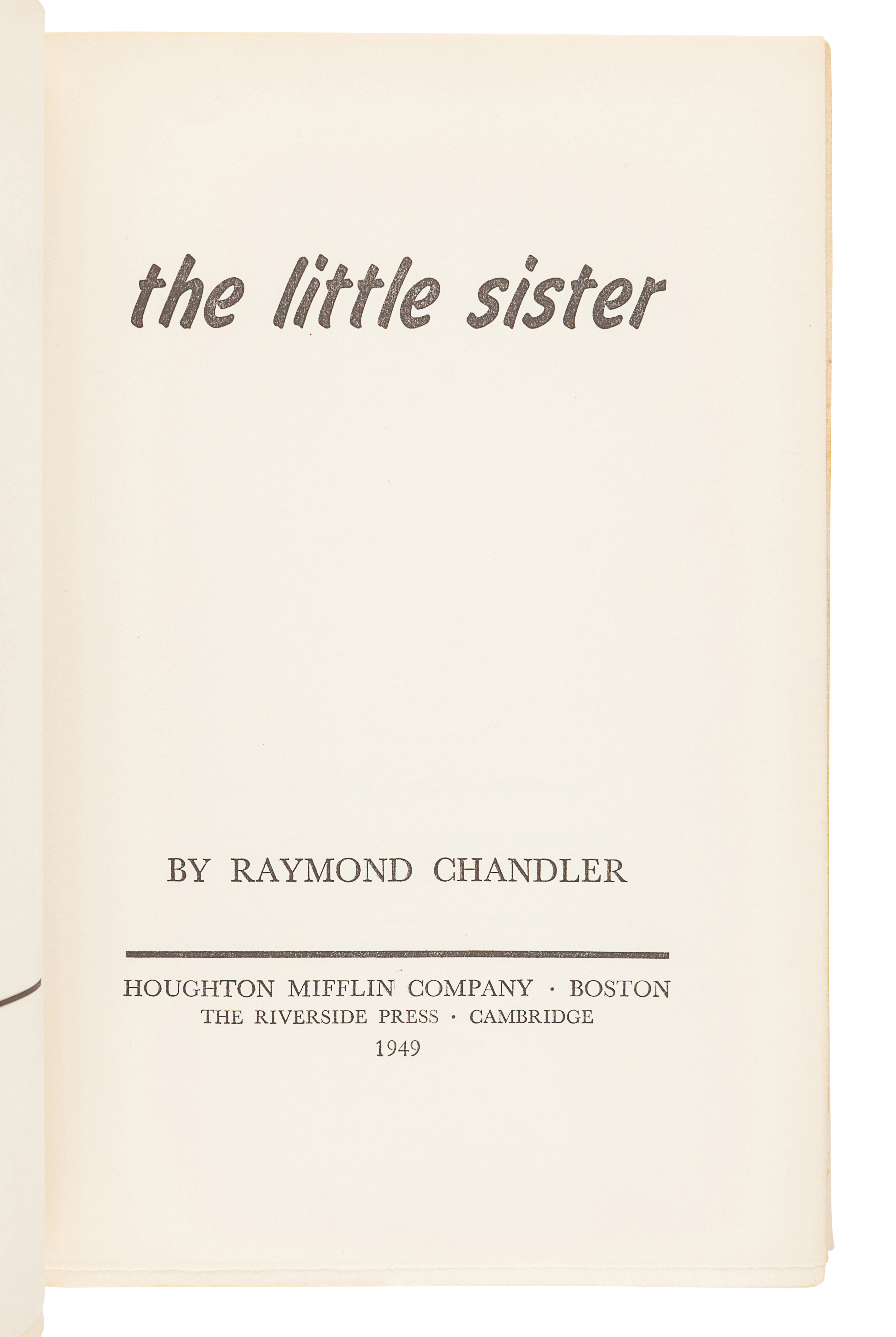 CHANDLER, Raymond (1888-1959). Farewell, My Lovely. New York: Alfred A. Knopf, 1940. - Image 3 of 3