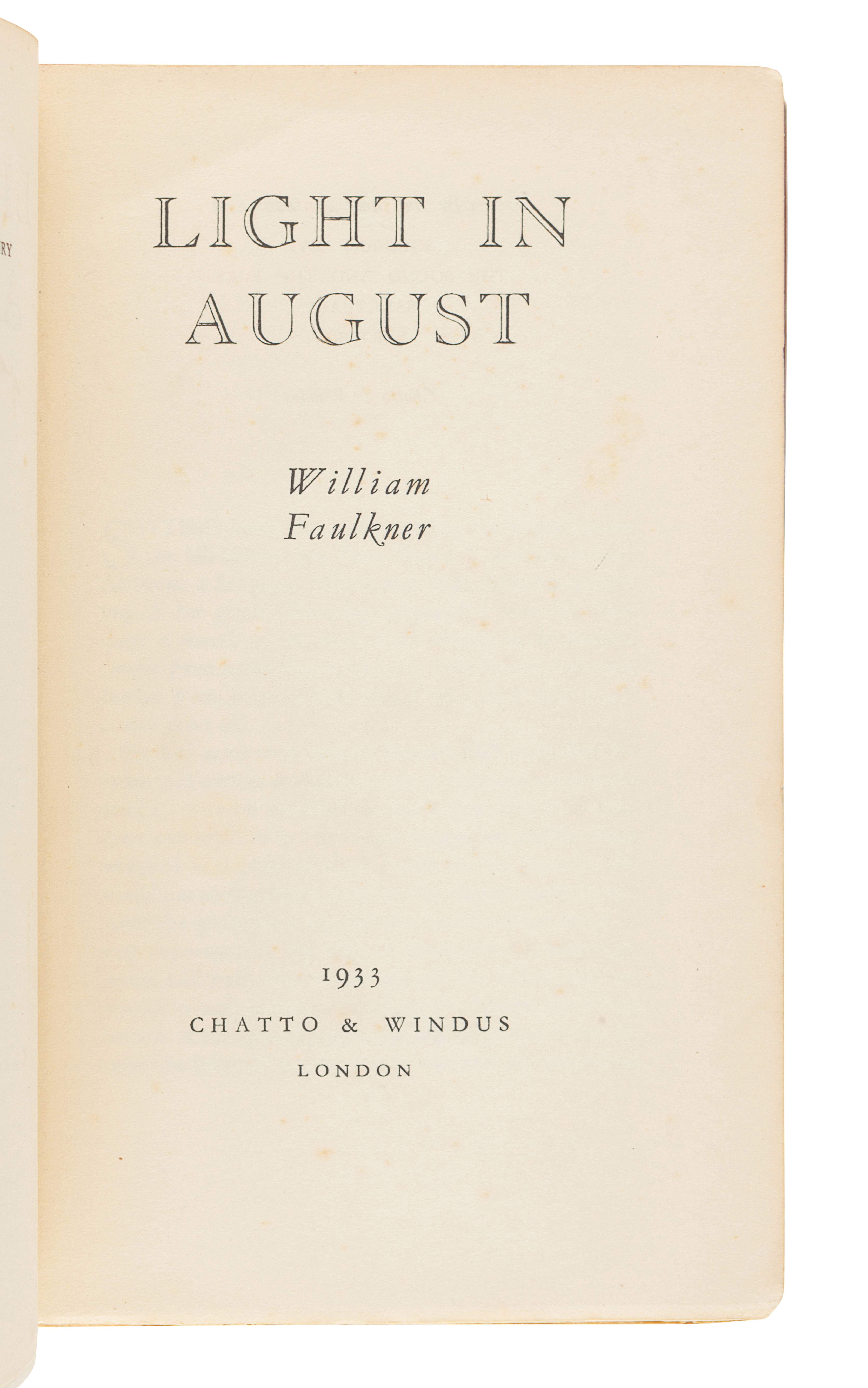 FAULKNER, William (1897-1962). Two works finely bound, comprising: - Image 5 of 5