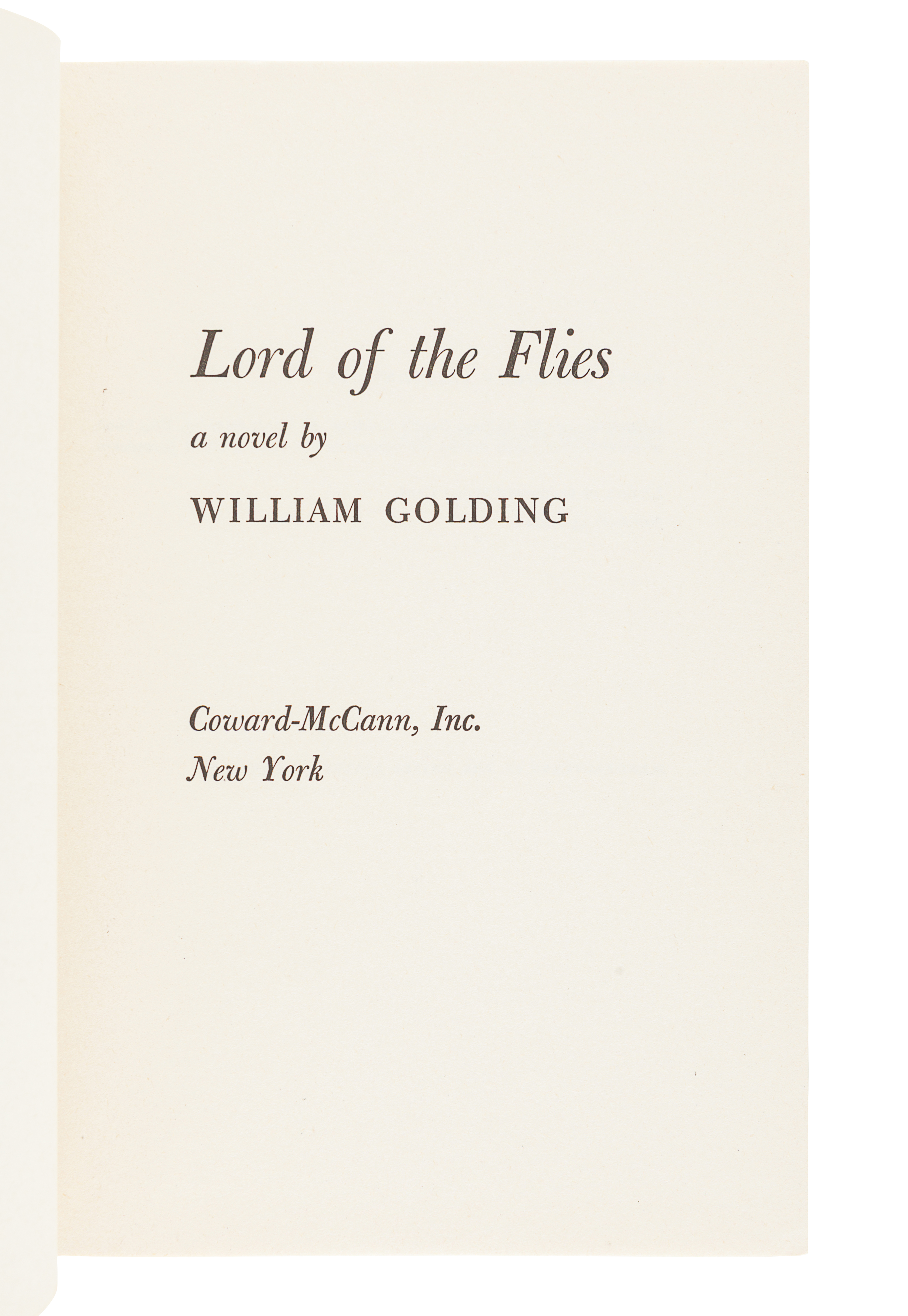GOLDING, William (1911-1993). Lord of the Flies. New York: Coward-McCann, Inc., 1955. - Image 3 of 3