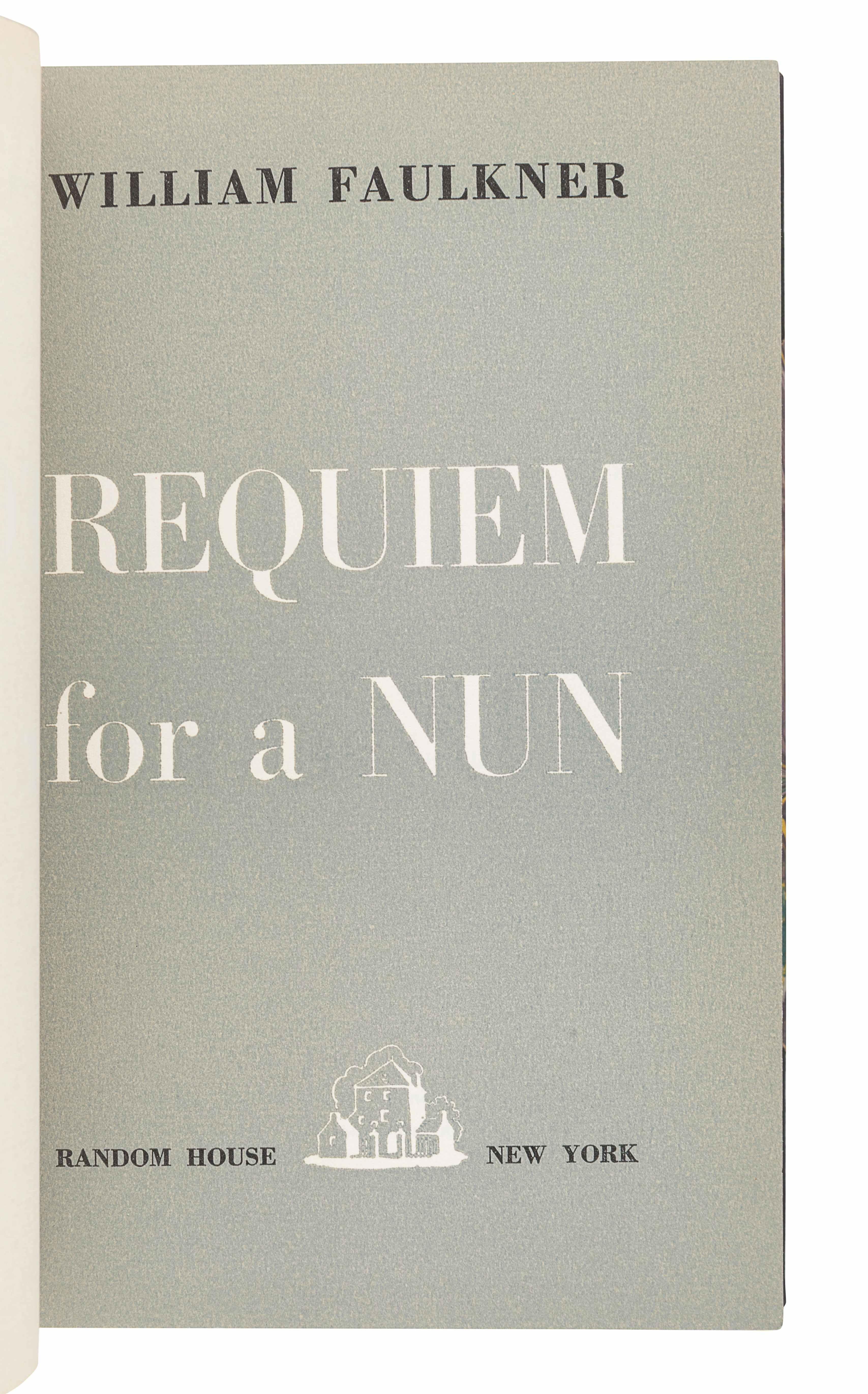 FAULKNER, William (1897-1962). Requiem for a Nun. New York: Random House, 1951. - Image 3 of 3