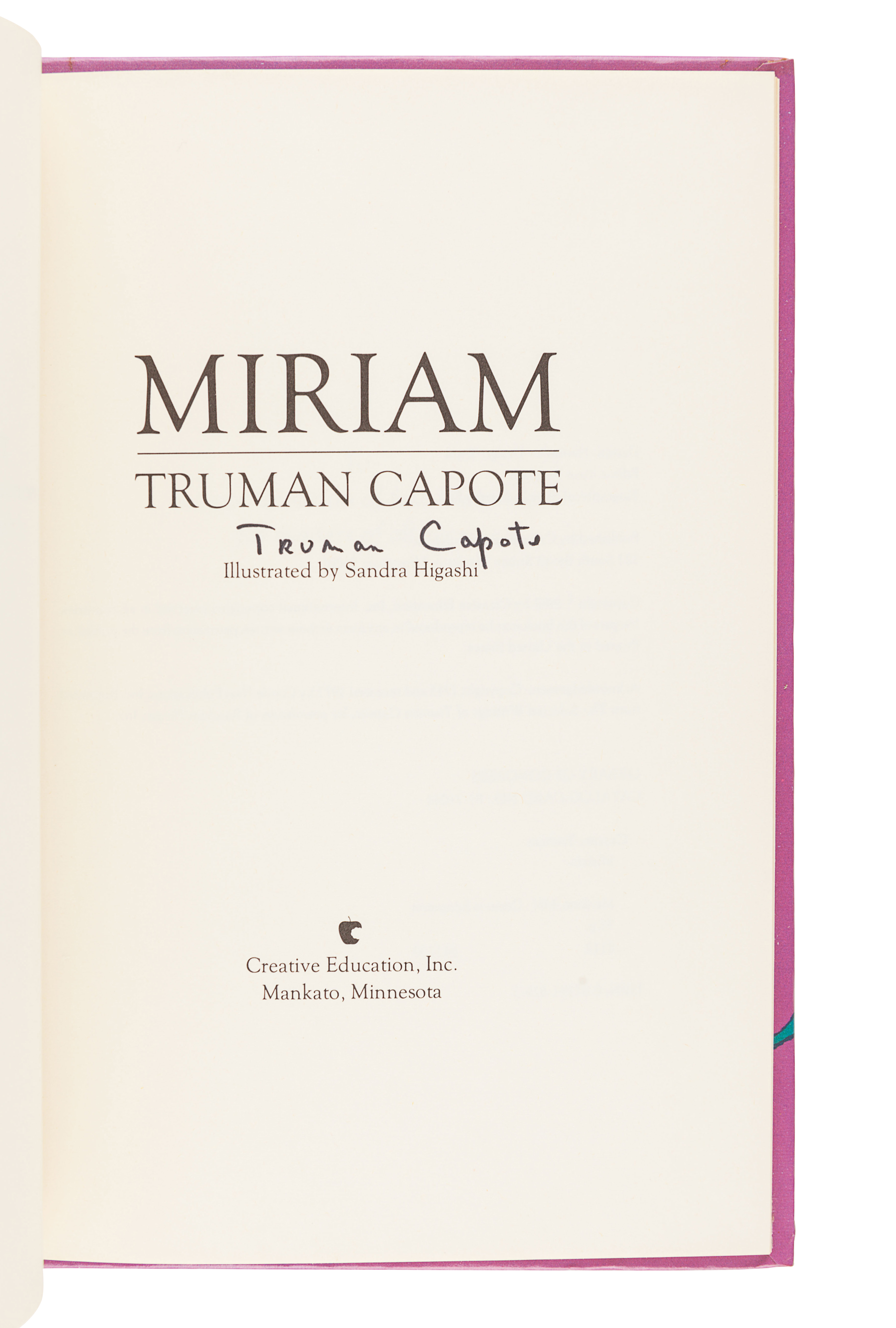 [CAPOTE, Truman (1924-1984)]. A group of 3 FIRST EDITIONS, SIGNED BY CAPOTE, comprising: - Image 4 of 4