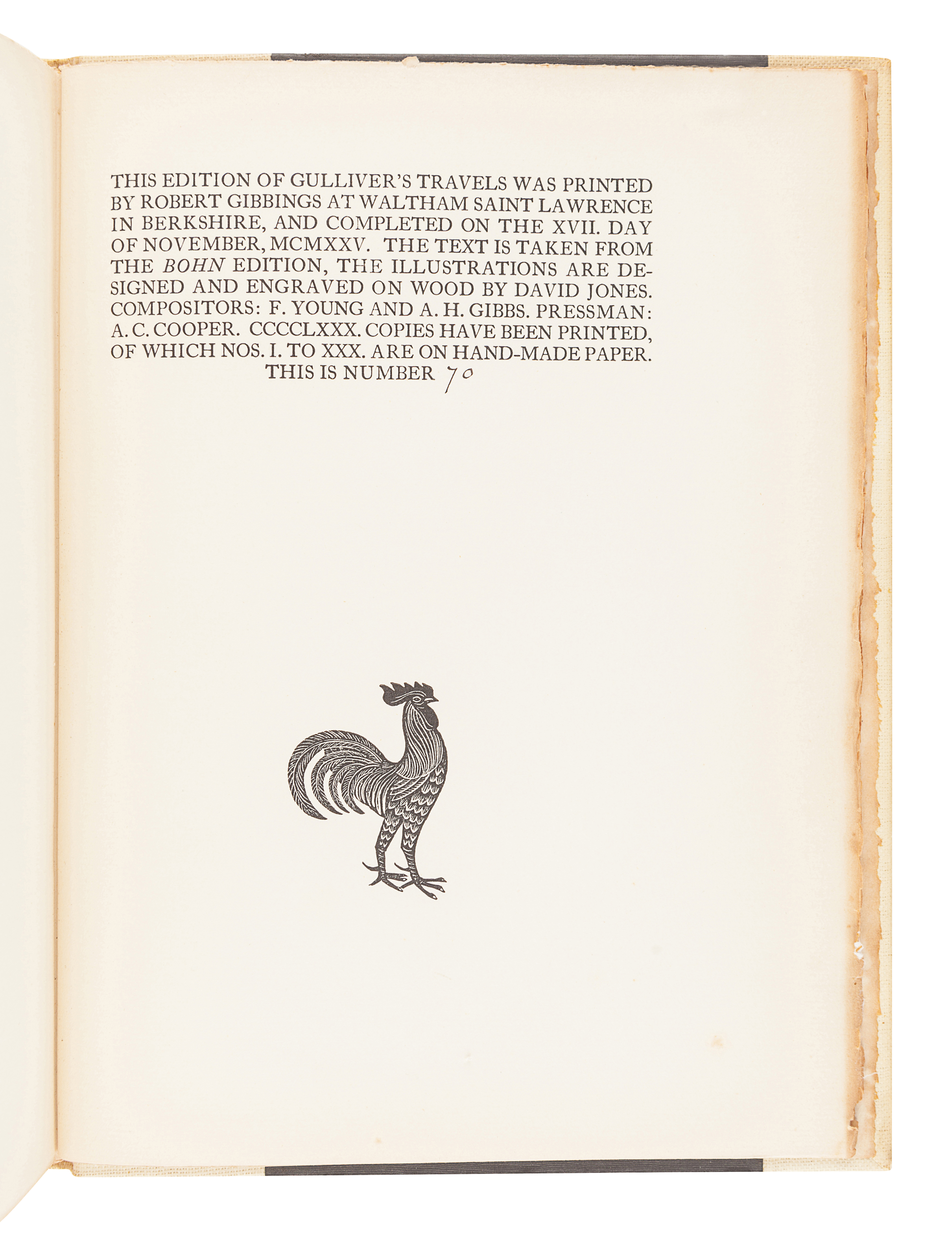 [FINE PRESS BOOKS]. A group of 5 works, comprising: - Image 5 of 9