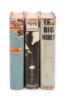 DOS PASSOS, John (1896-1970). A set of FIRST EDITIONS of Dos Passos's U.S.A.trilogy, comprising: