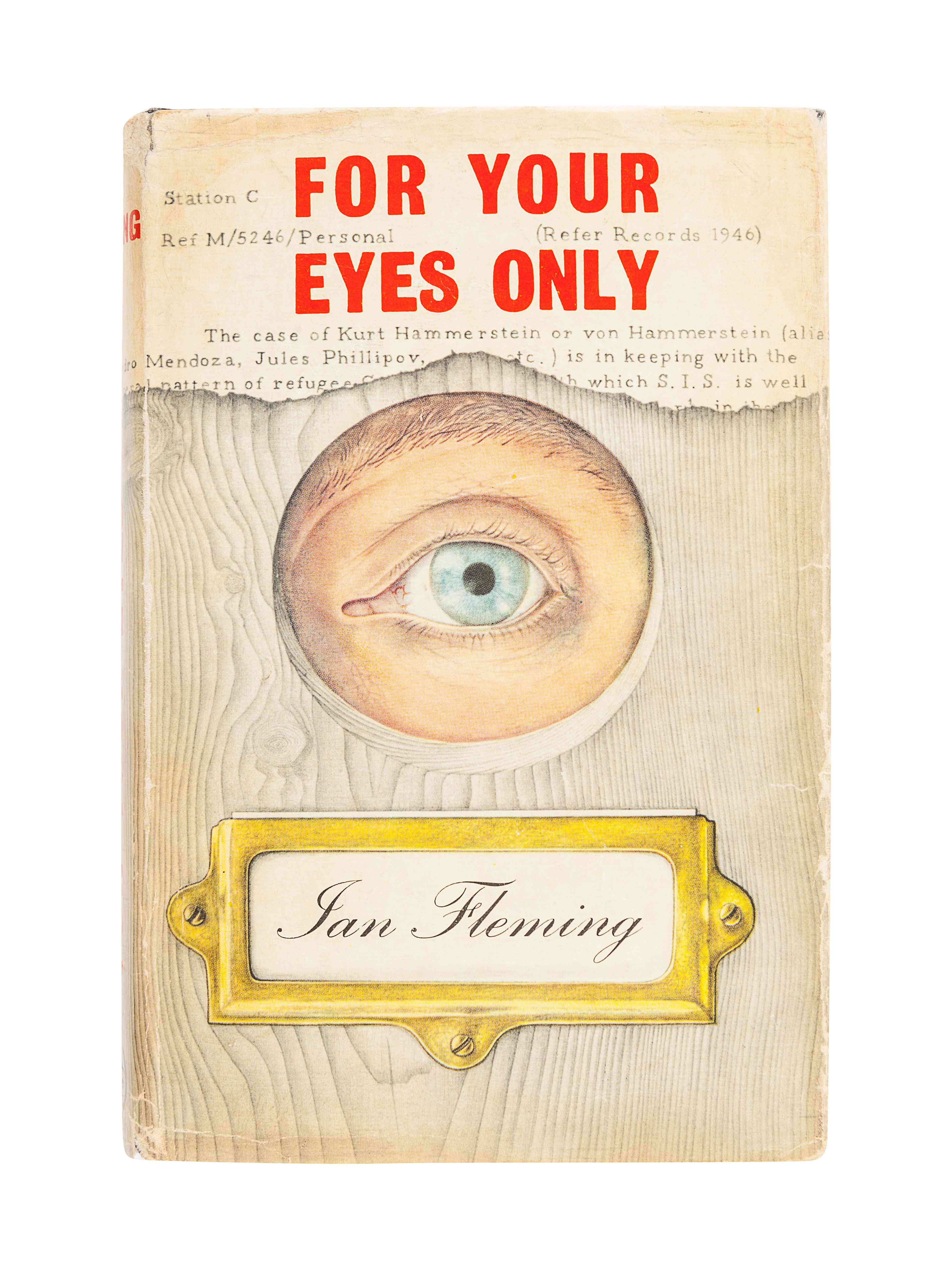 FLEMING, Ian (1908-1964). For Your Eyes Only. London: Jonathan Cape, 1960.