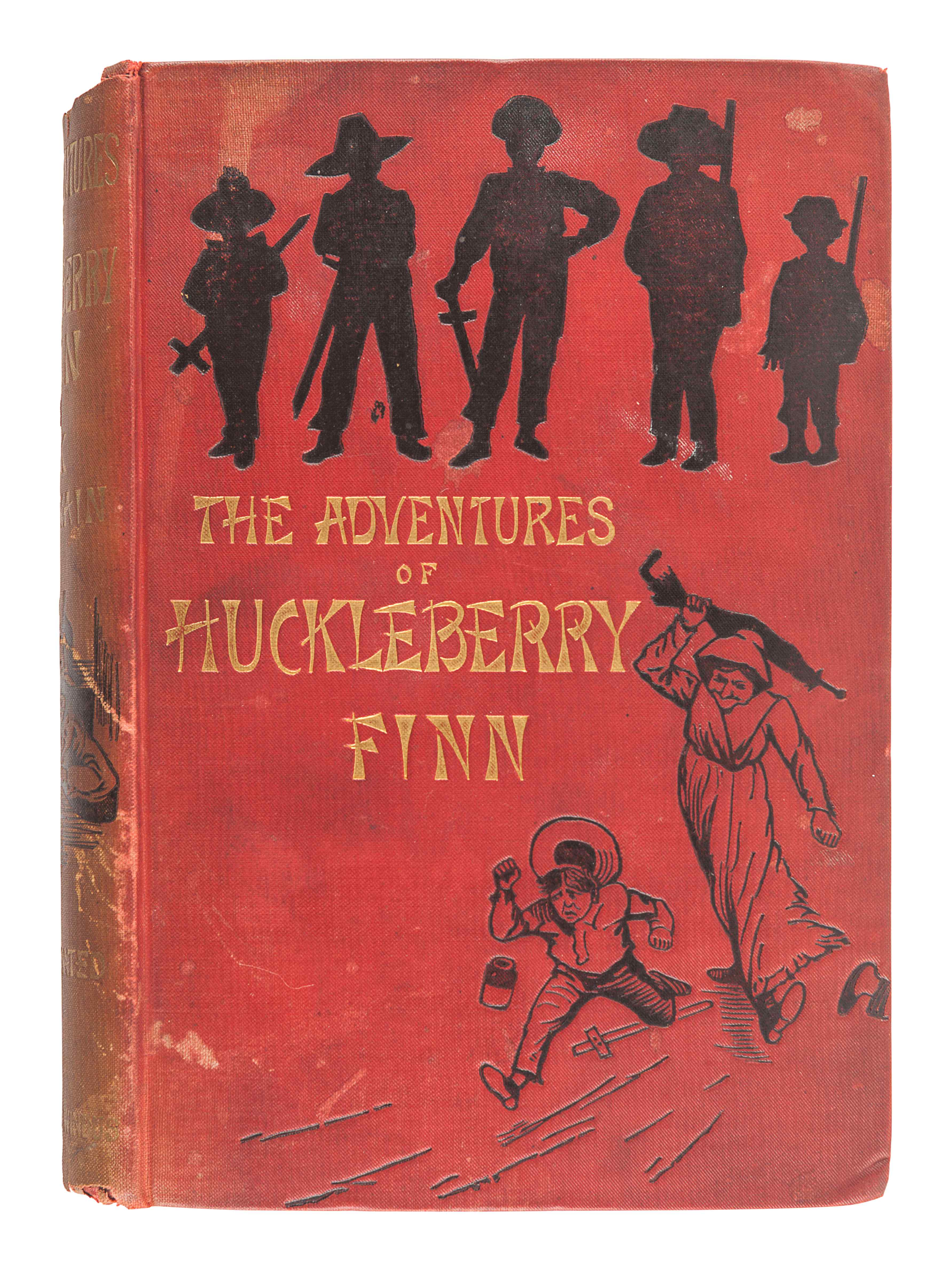 """CLEMENS, Samuel (""""Mark Twain"""") (1835-1910). The Adventures of Huckleberry Finn. London: Chatto & Win - Image 2 of 2"""