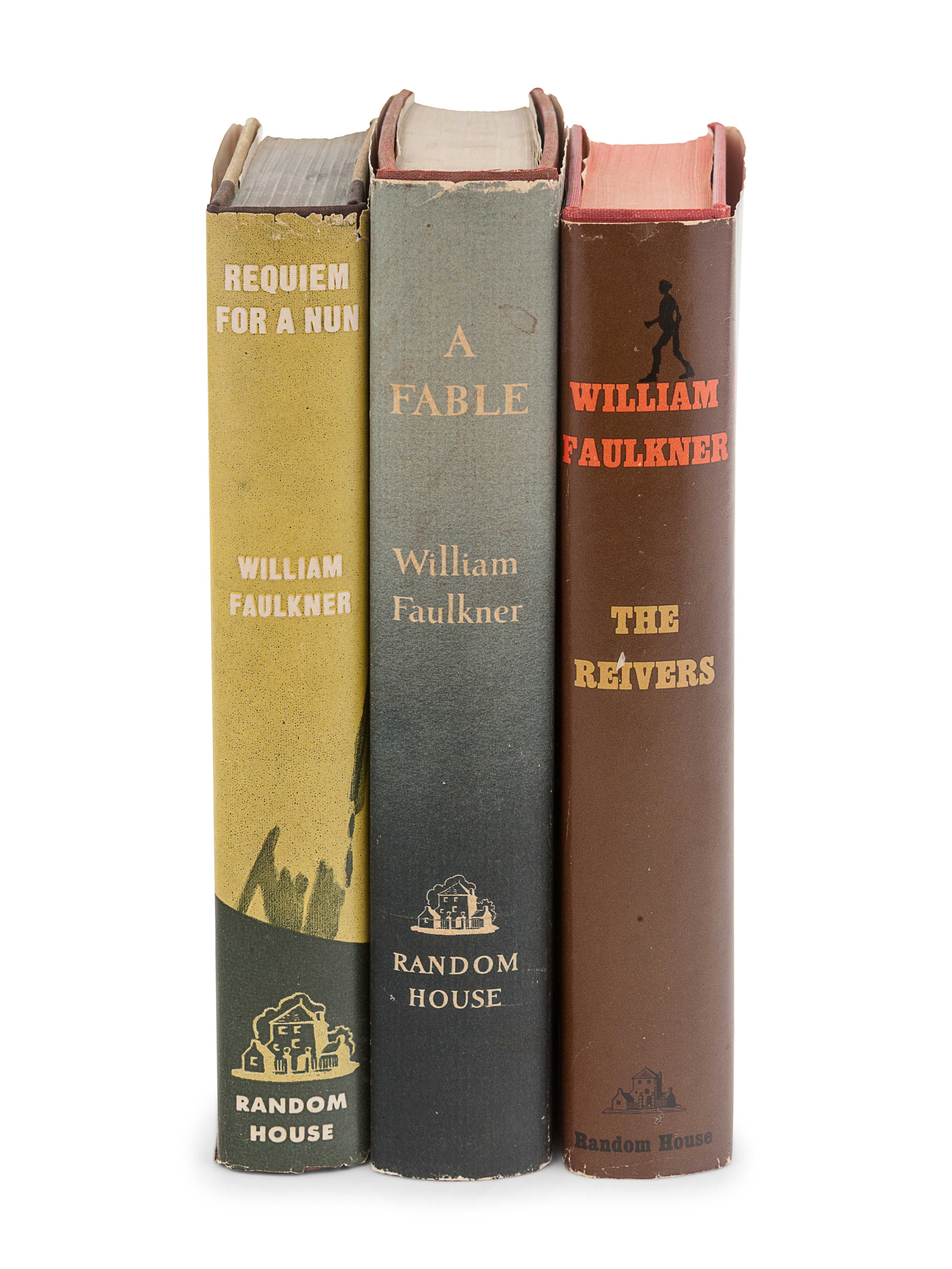 FAULKNER, William (1897-1962). A group of FIRST EDITIONS, comprising:
