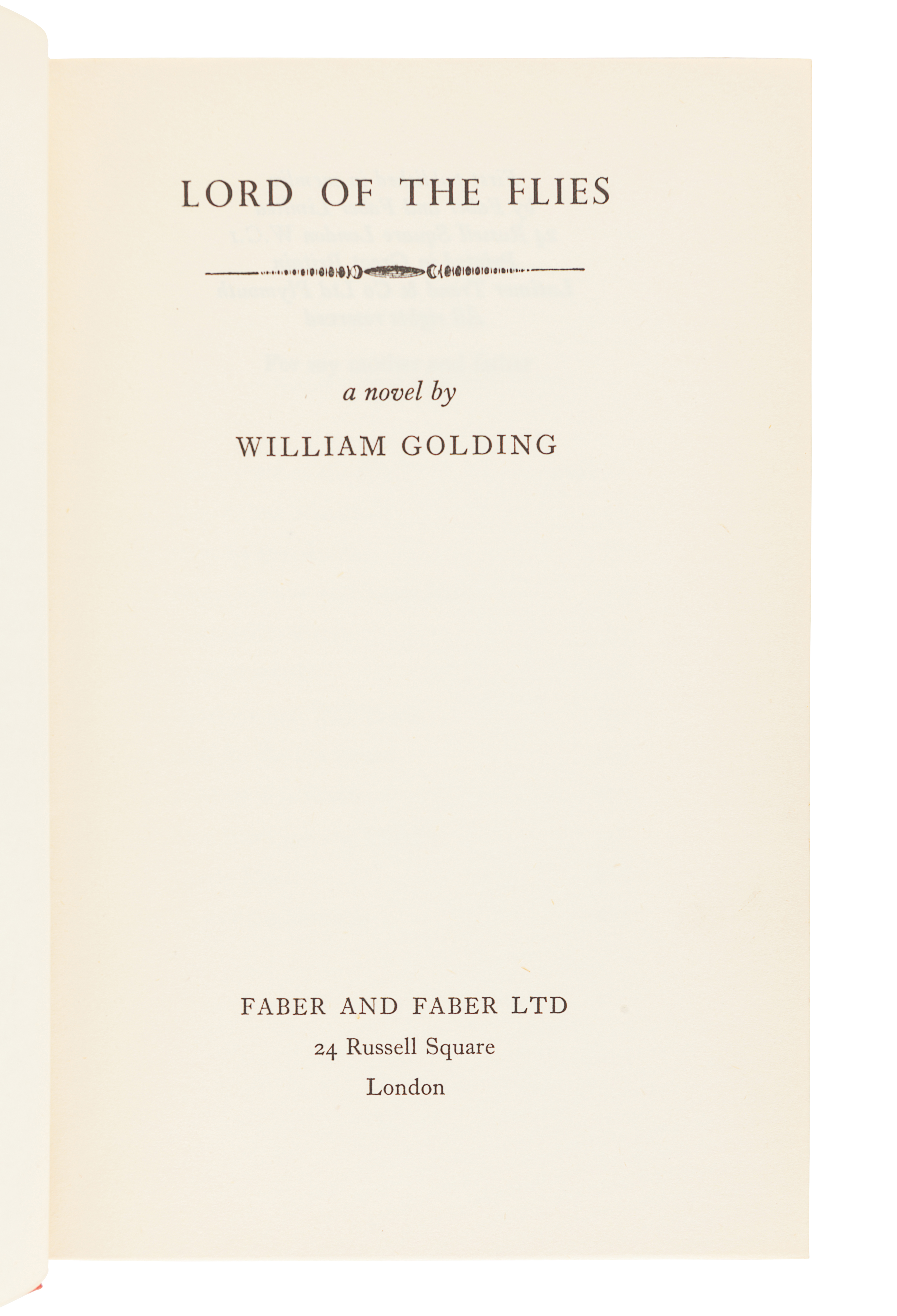 GOLDING, William (1911-1993). Lord of the Flies. London: Faber and Faber, 1954. - Image 3 of 3