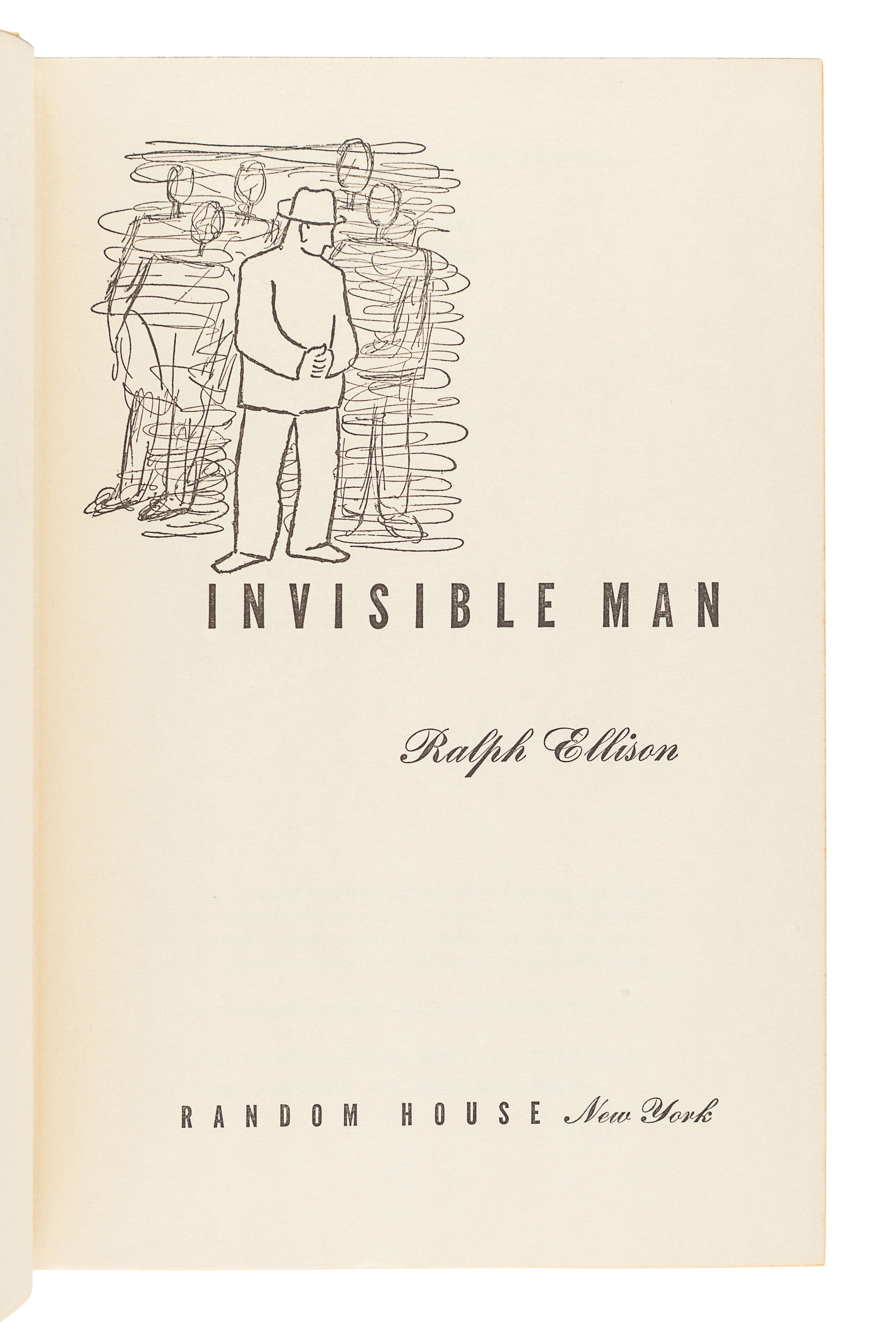 ELLISON, Ralph (1914-1994). Invisible Man. New York: Random House, 1952. - Image 3 of 3