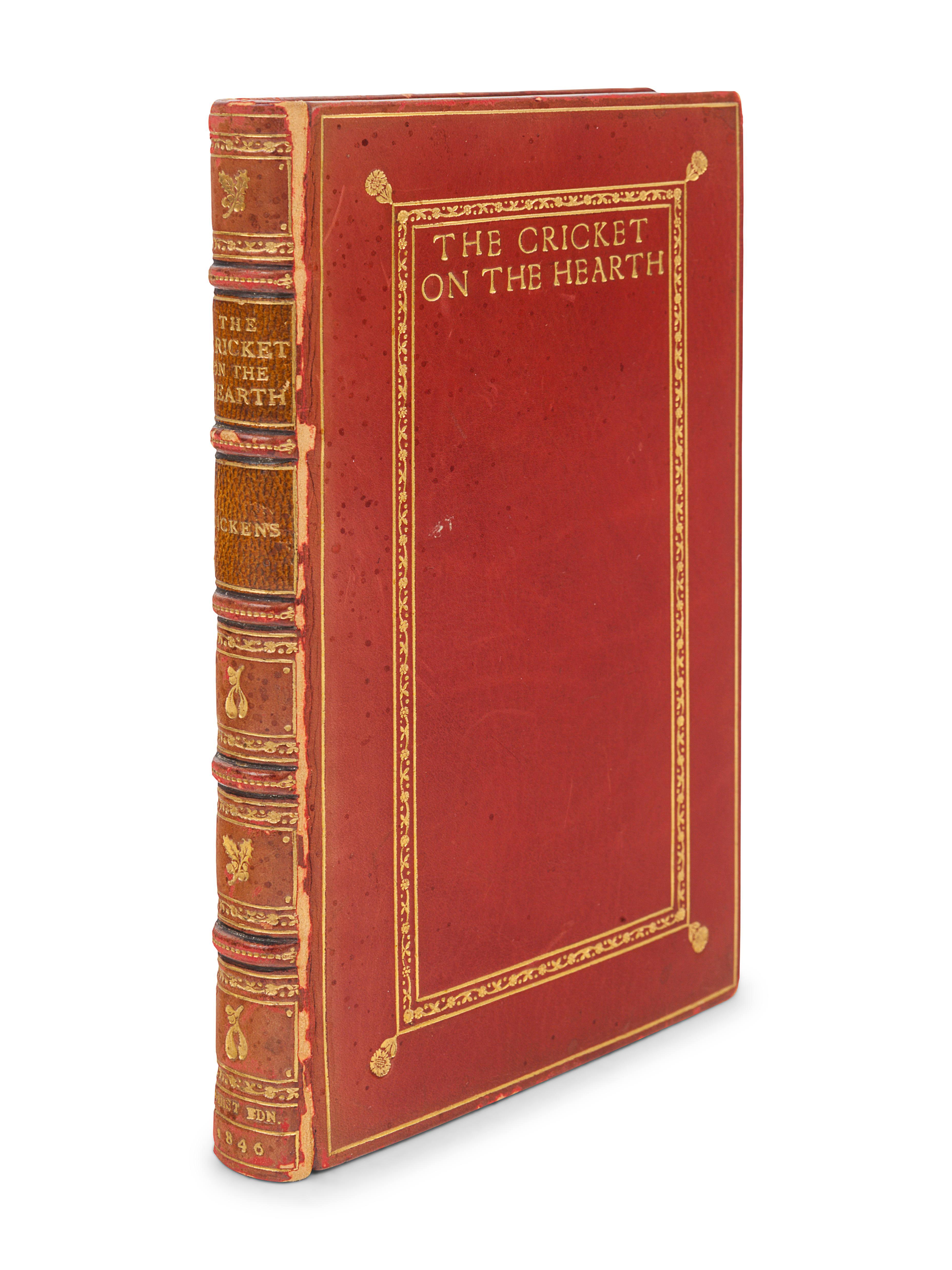 DICKENS, Charles (1812-1870). The Cricket on the Hearth. A Fairy Tale of Home. London: Bradbury & Ev