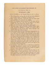 "COBB, Humphrey (1899-1944). [Paths of Glory]. ""Advance Copy of A Novel (As Yet Untitled)."" New York:"