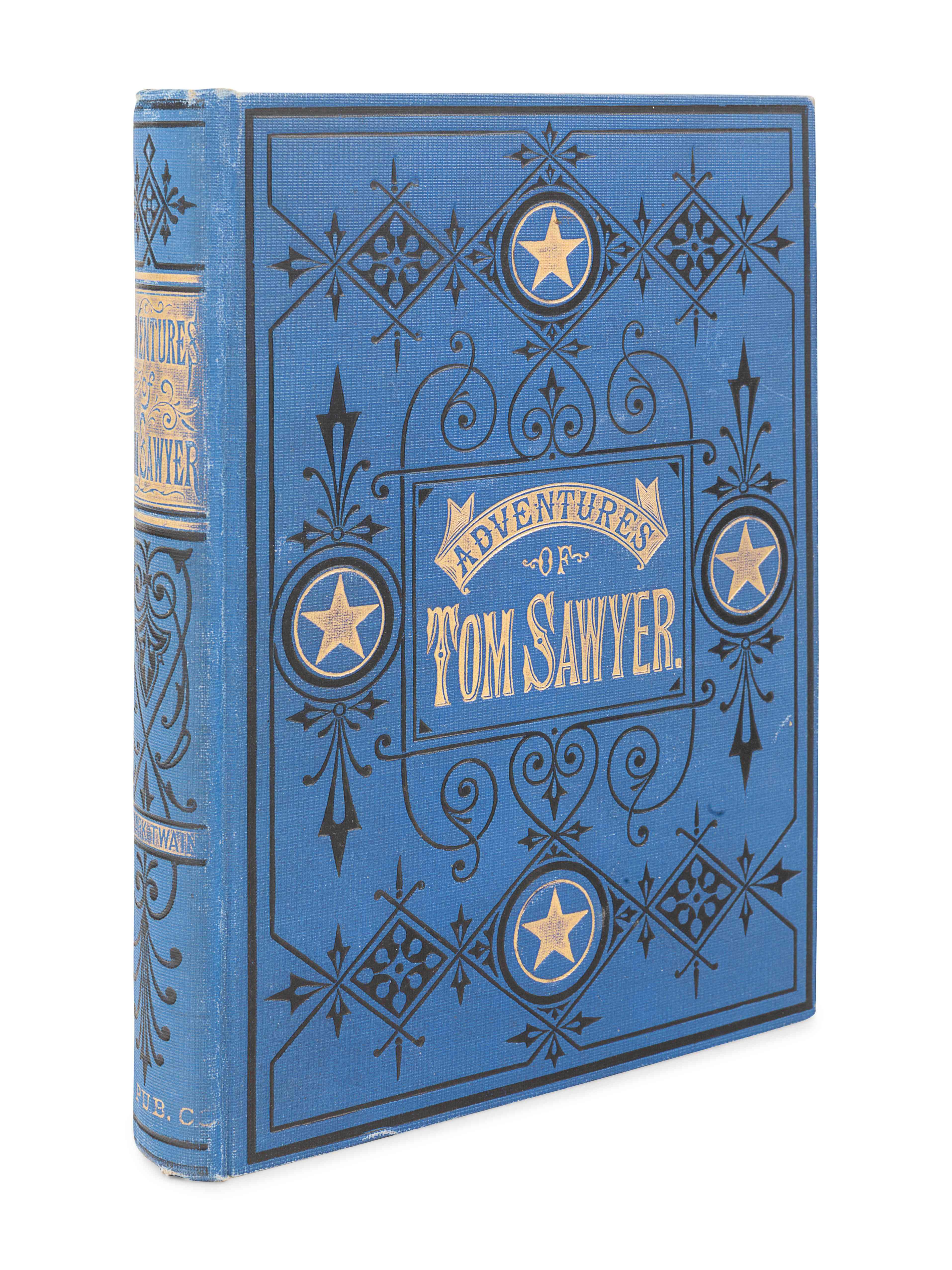"CLEMENS, Samuel (""Mark Twain"") (1835-1910). The Adventures of Tom Sawyer. Hartford, et al: The Amer - Image 2 of 3"