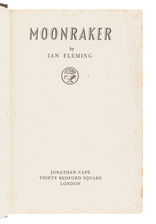FLEMING, Ian (1908-1964). Moonraker. London: Jonathan Cape, 1955. - Image 2 of 3