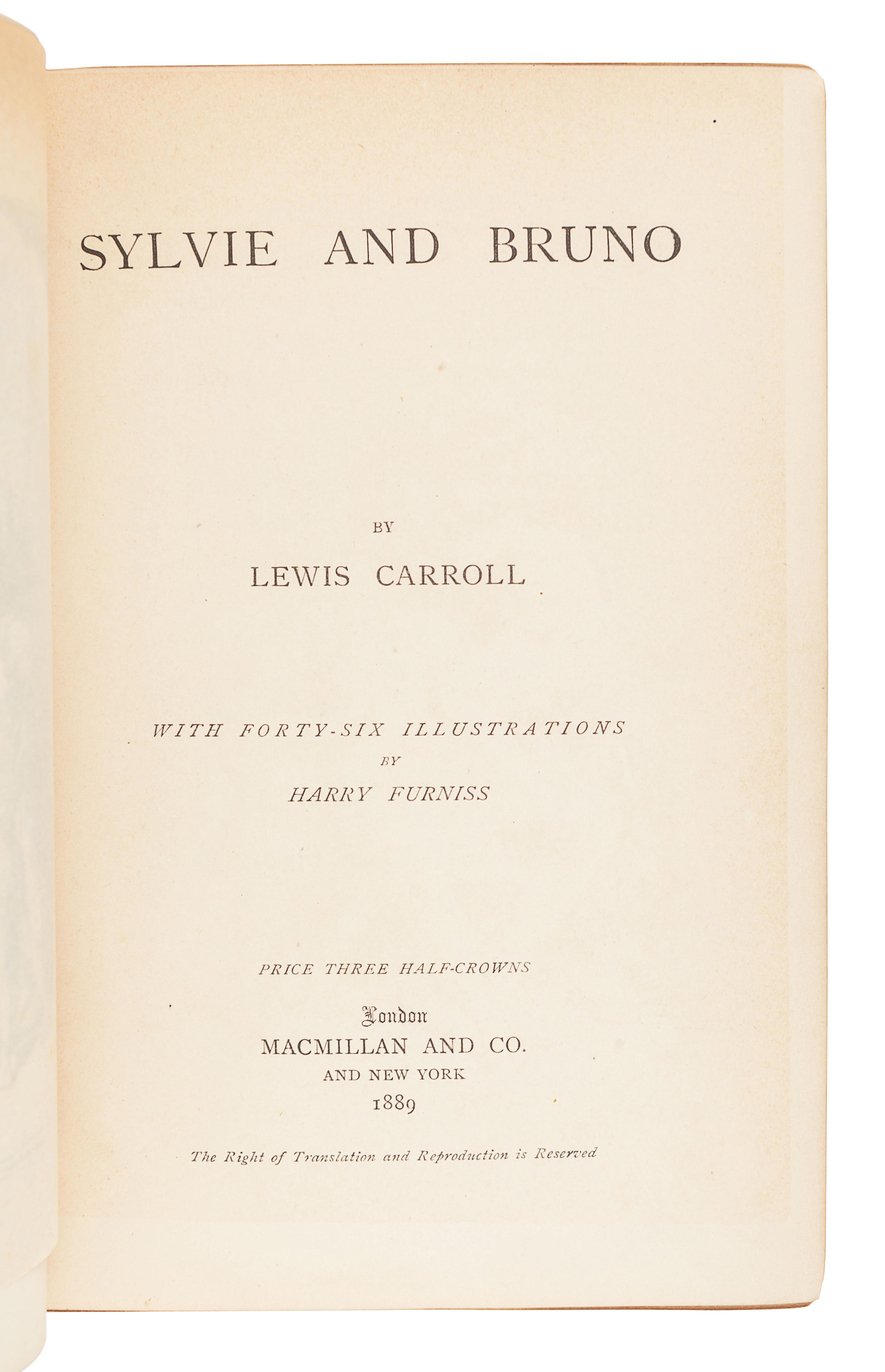 "DODGSON, Charles Lutwidge (""Lewis Carroll"") (1832-1898). Sylvie and Bruno. London: Macmillan and Co."