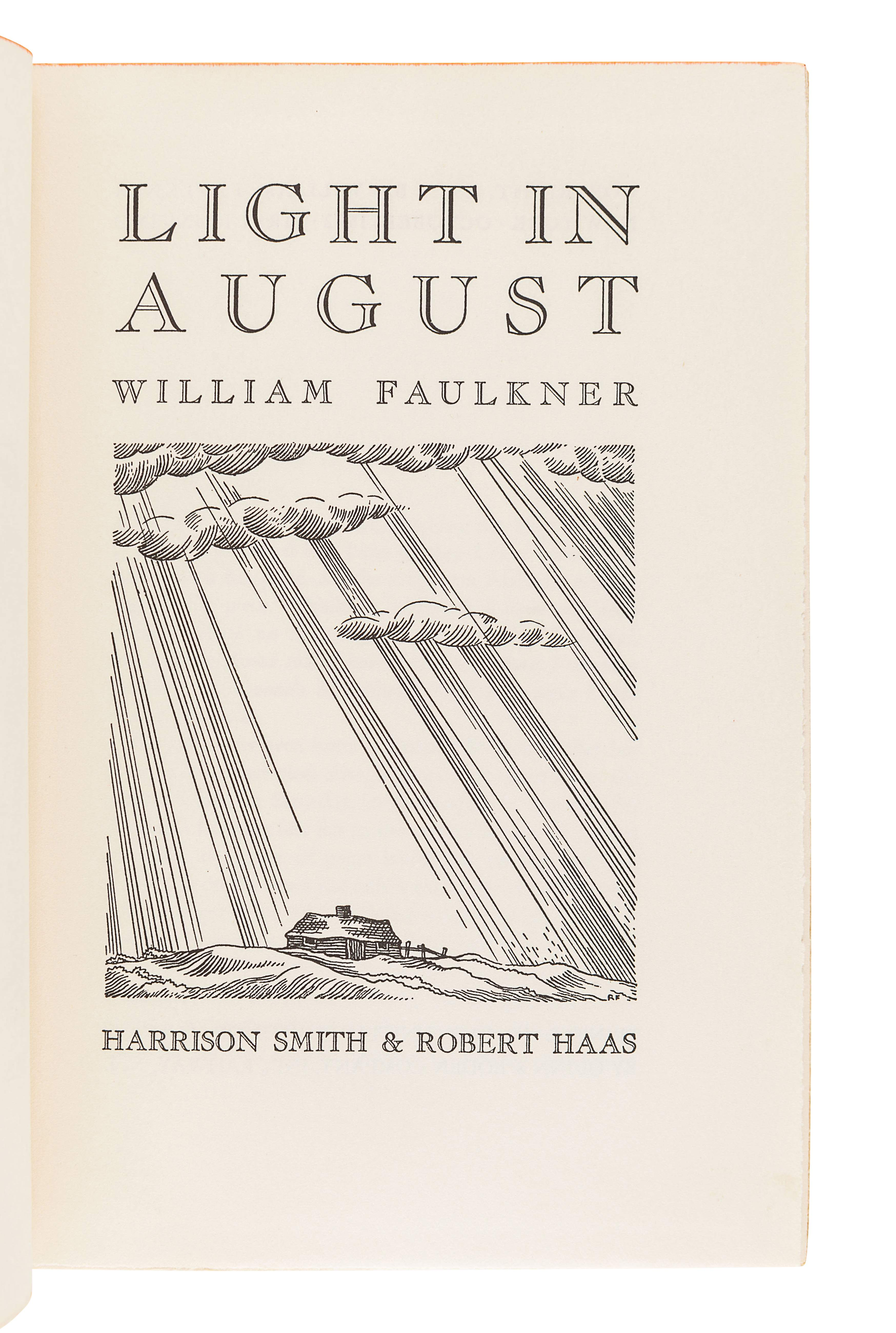 FAULKNER, William (1897-1962). Light in August. New York: Harrison Smith and Robert Haas, 1932. - Image 3 of 3
