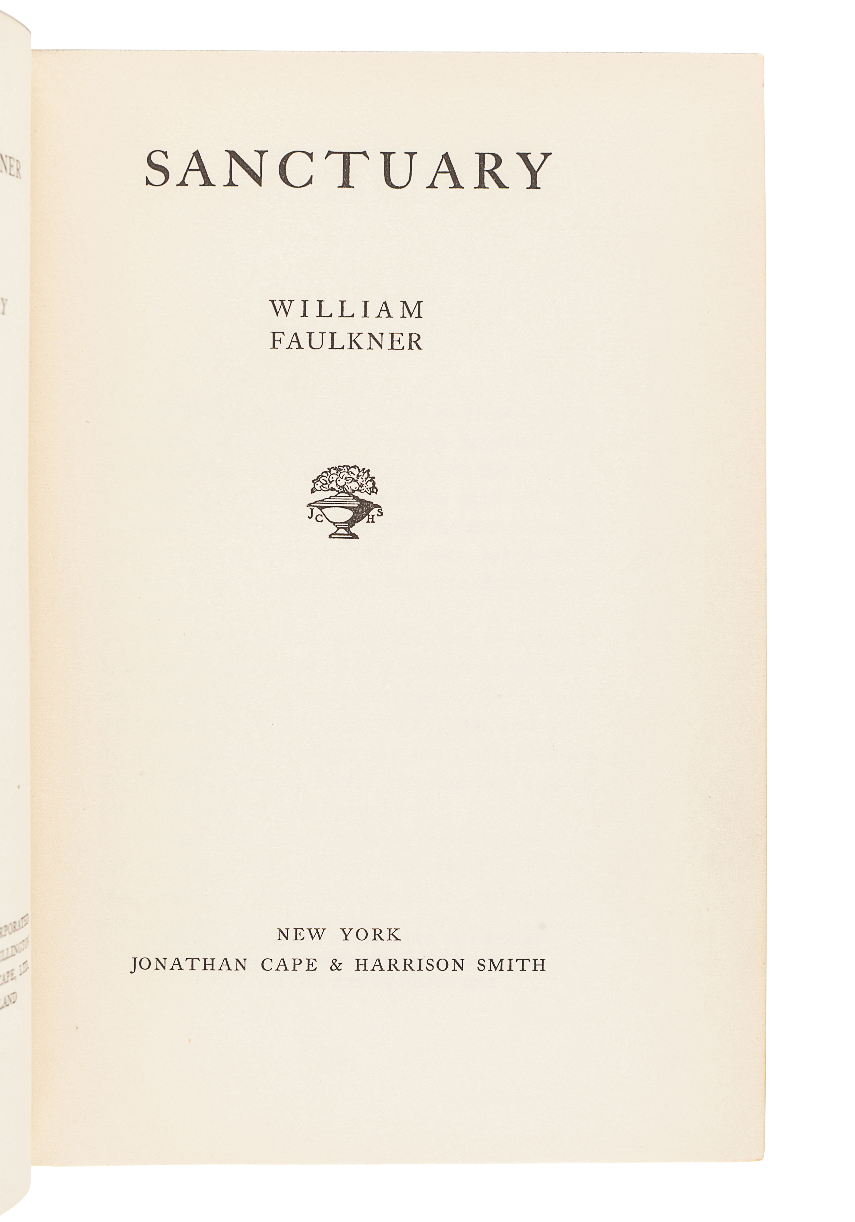 FAULKNER, William (1897-1962). Sanctuary. New York: Jonathan Cape and Harrison Smith, 1931. - Image 3 of 3