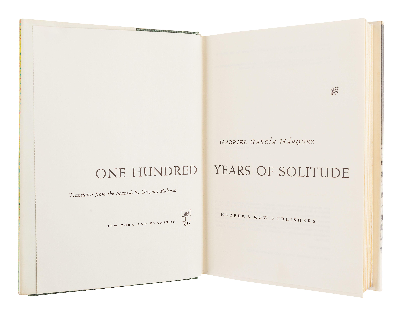 GARCIA MARQUEZ, Gabriel (1927-2014). One Hundred Years of Solitude. Gregory Rabassa, translator. New - Image 2 of 3
