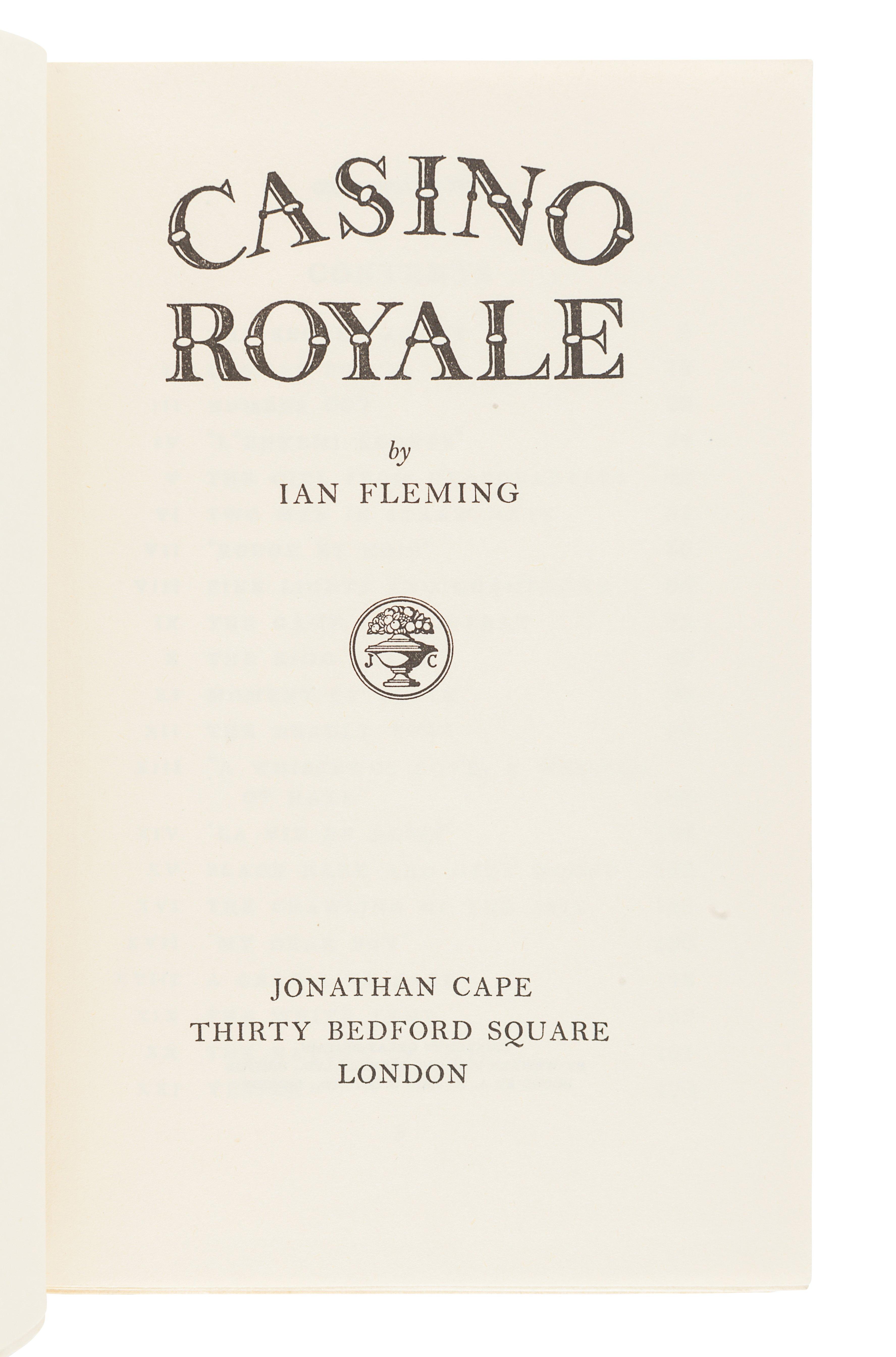 FLEMING, Ian (1908-1964). Casino Royale. London: Jonathan Cape, 1953. - Image 2 of 2