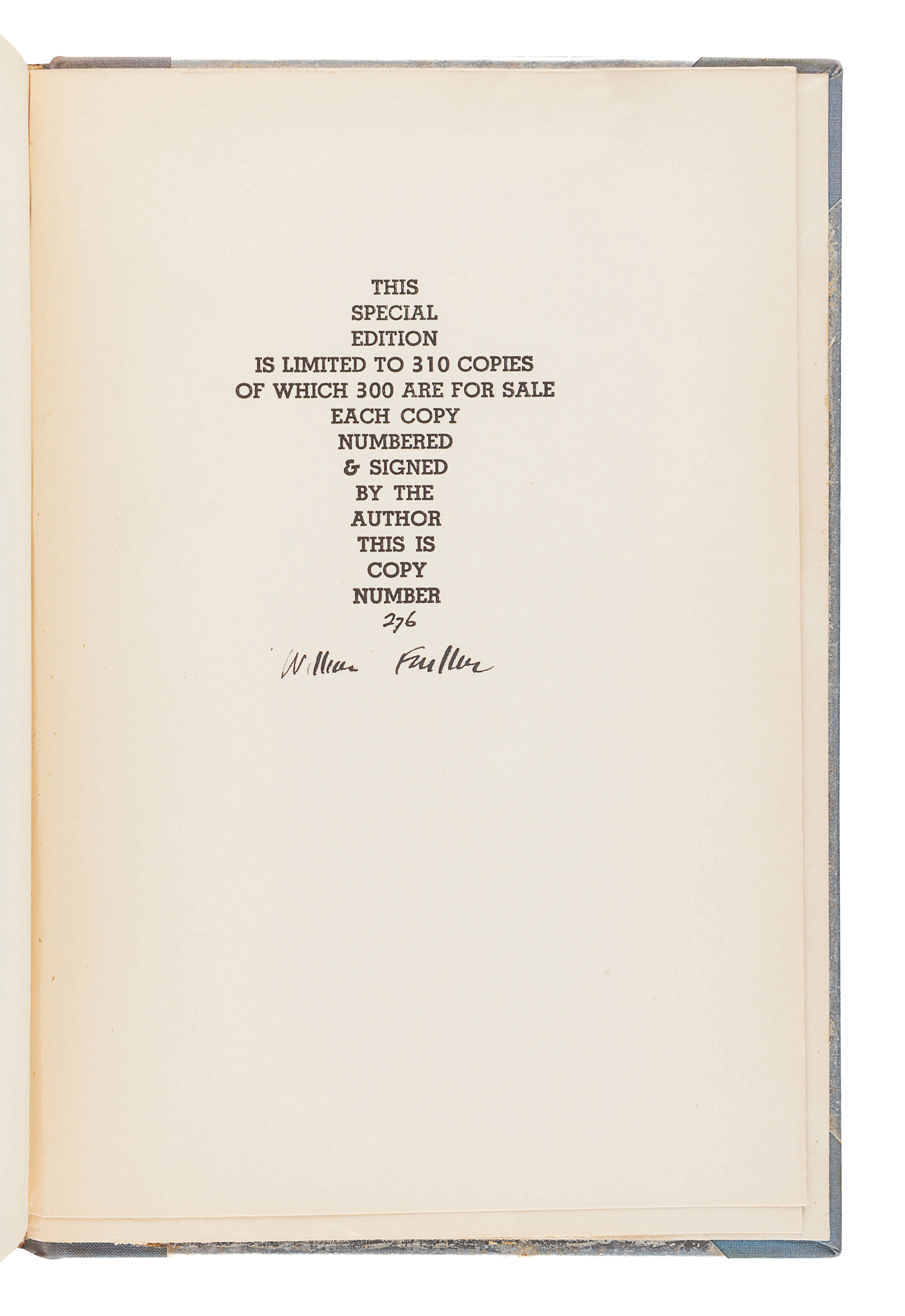 FAULKNER, William (1897-1962). Pylon. New York: Harrison Smith and Robert Haas, 1935.