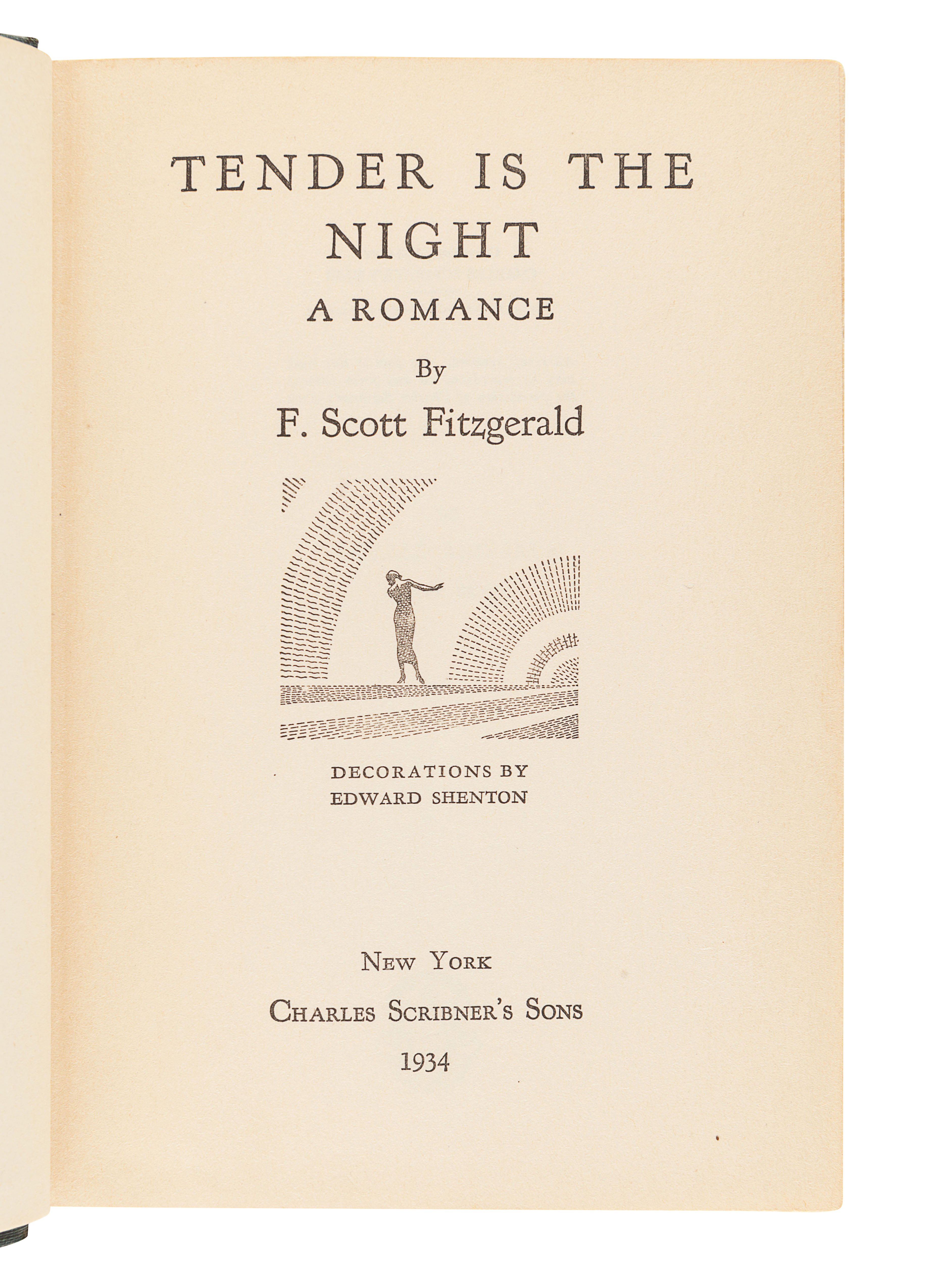 FITZGERALD, F. Scott (1896-1940). Tender is the Night. New York: Charles Scribner's Sons, 1934. - Image 3 of 3