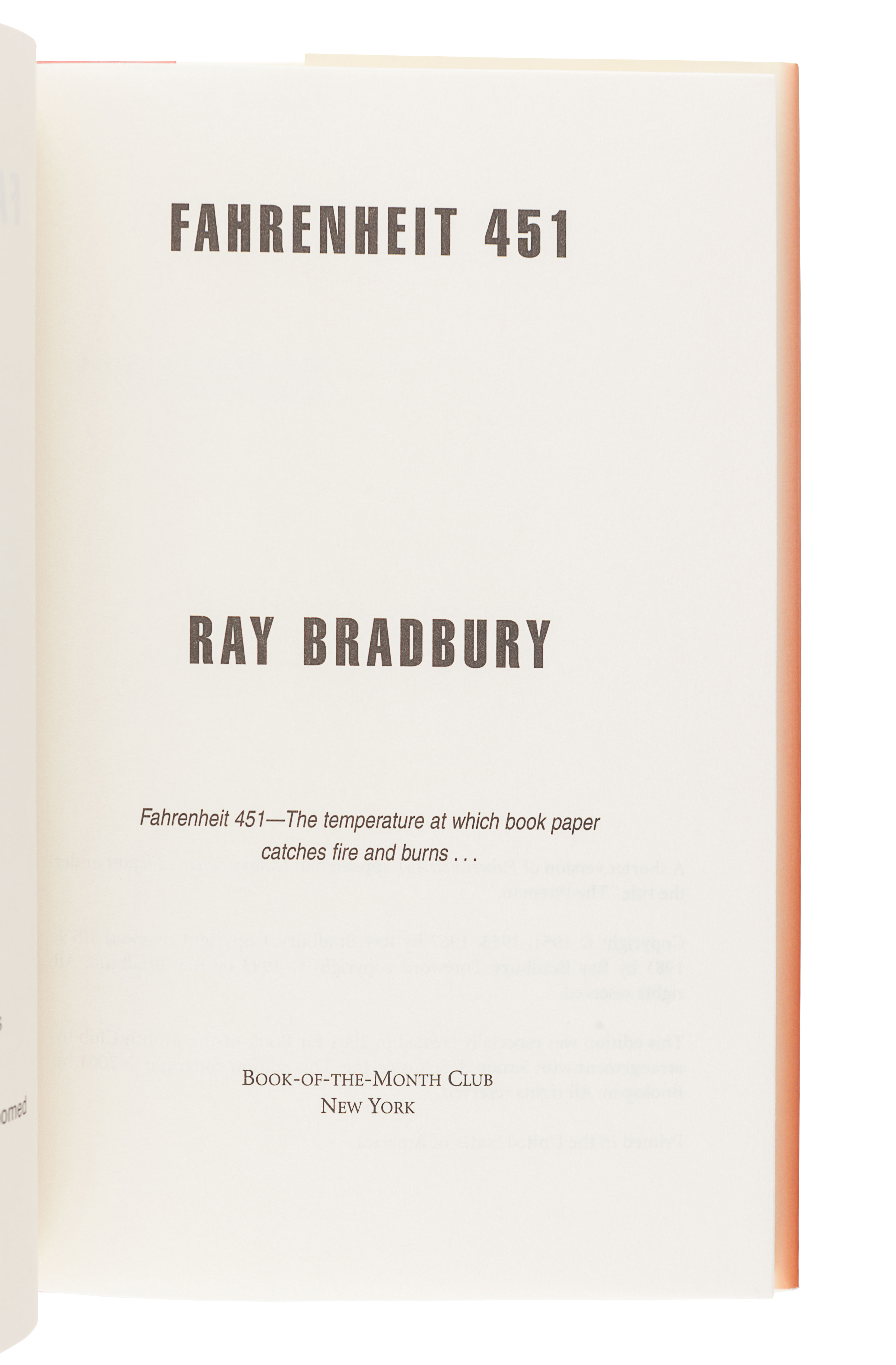 [BRADBURY, Ray (1920-2012)]. A group of 5 works SIGNED OR INSCRIBED by Bradbury, comprising: - Image 10 of 11