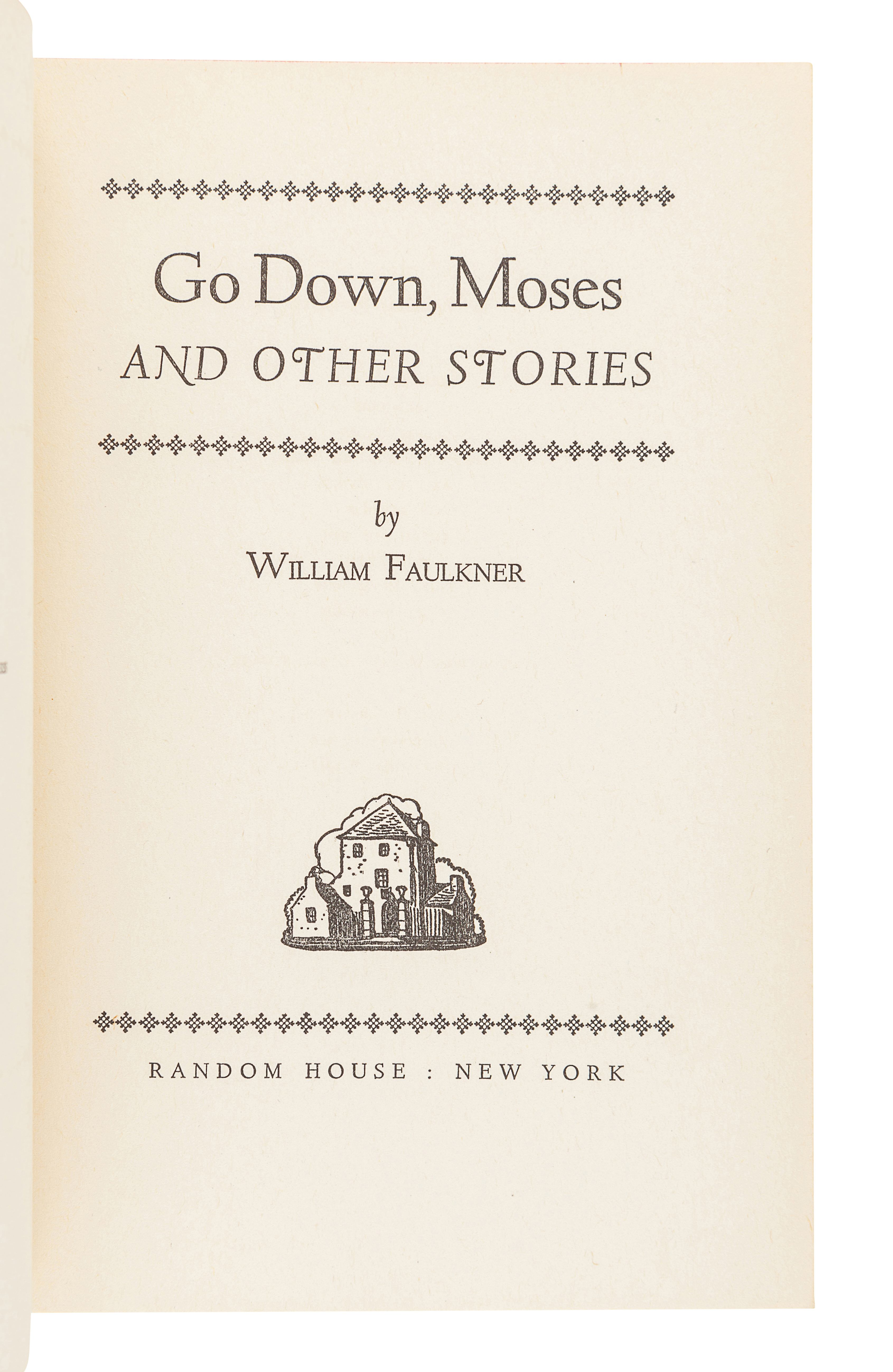 FAULKNER, William (1897-1962). Go Down Moses and Other Stories. New York: Random House, 1942. - Image 2 of 3