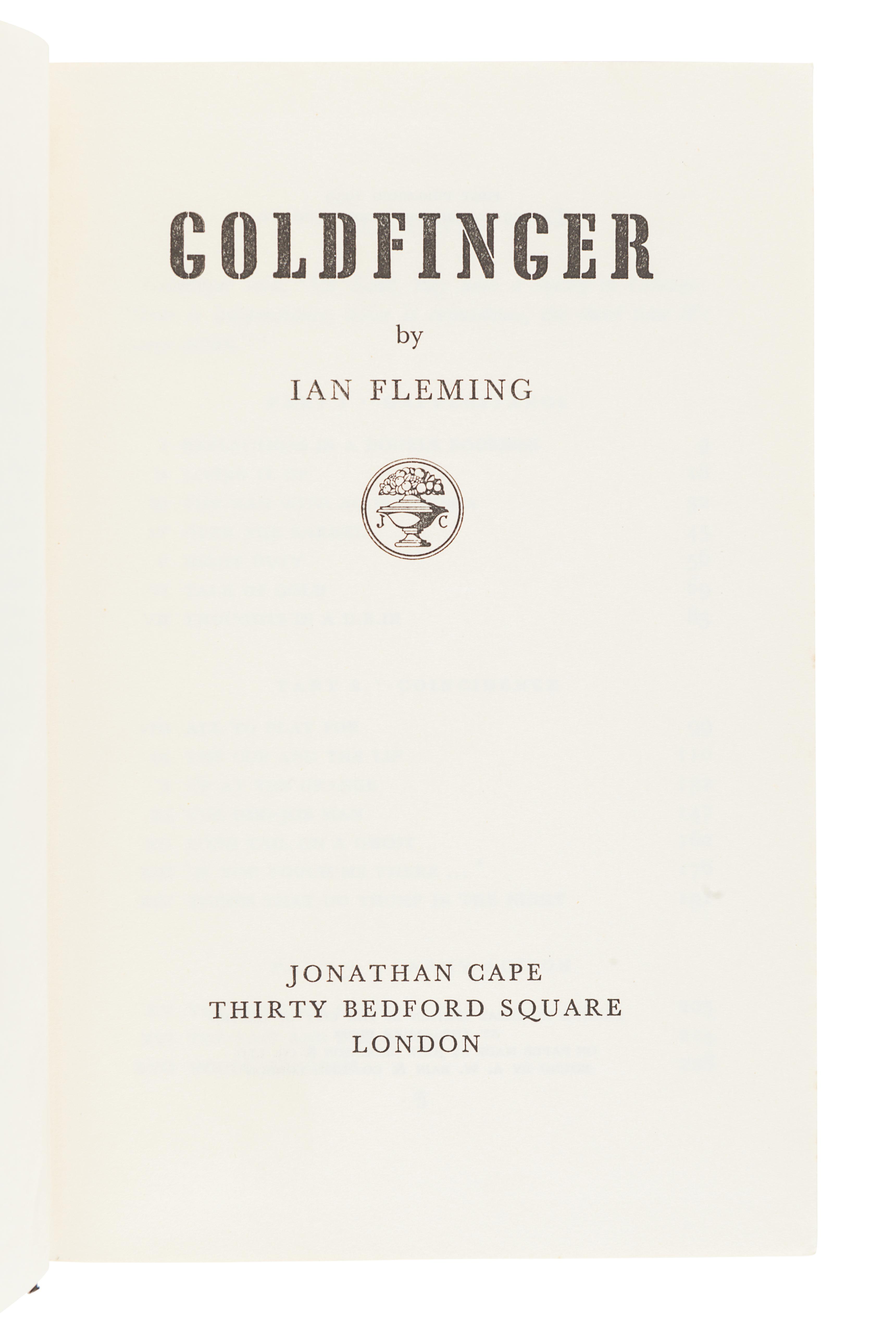 FLEMING, Ian (1908-1964). Goldfinger. London: Jonathan Cape, 1959. - Image 3 of 3