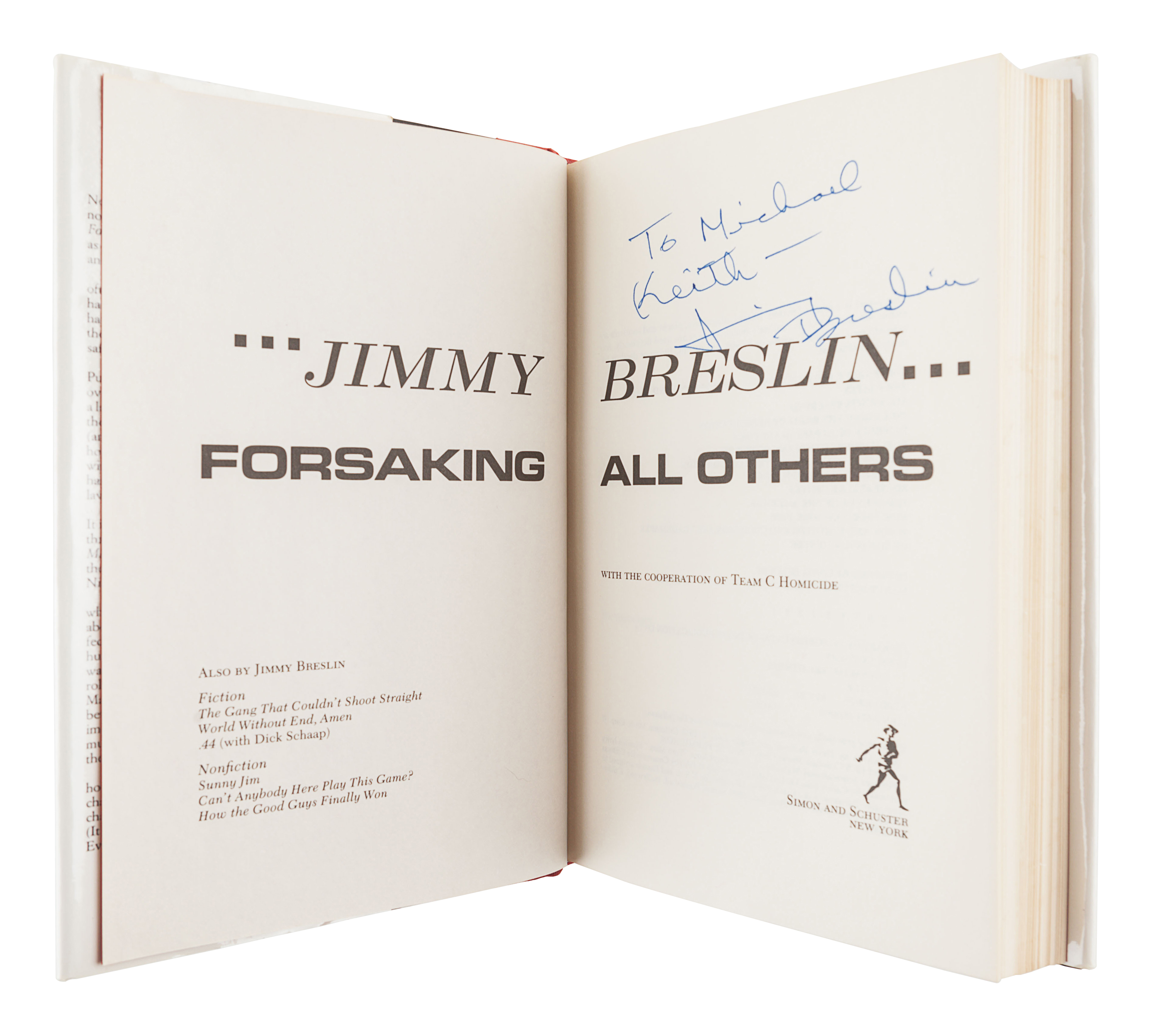 [BRESLIN, Jimmy (1928-2017)]. A group of 4 FIRST EDITIONS by Breslin, comprising: - Image 8 of 9