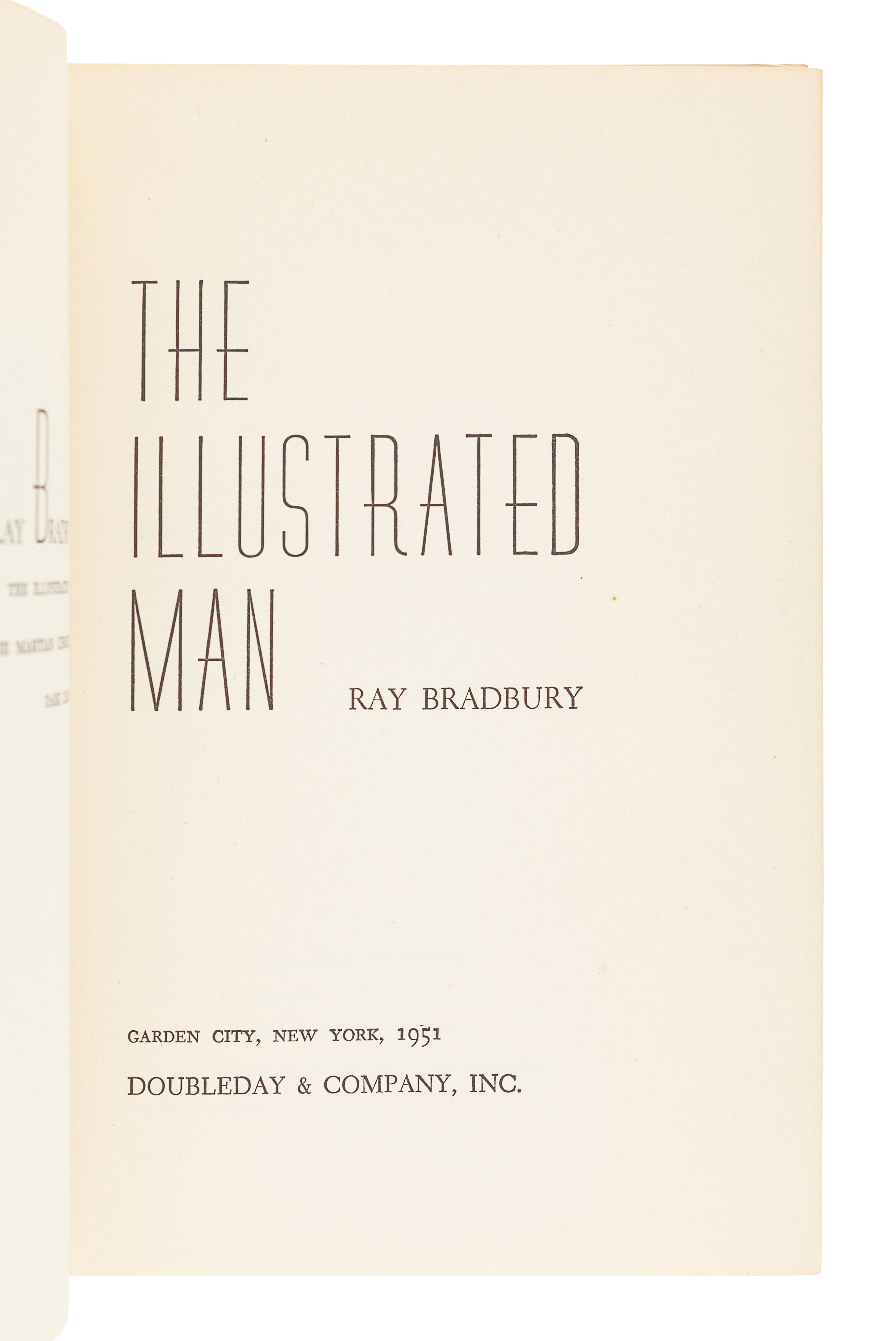 BRADBURY, Ray (1920-2012). The Illustrated Man. Garden City: Doubleday & Company, Inc., 1951. - Image 4 of 5