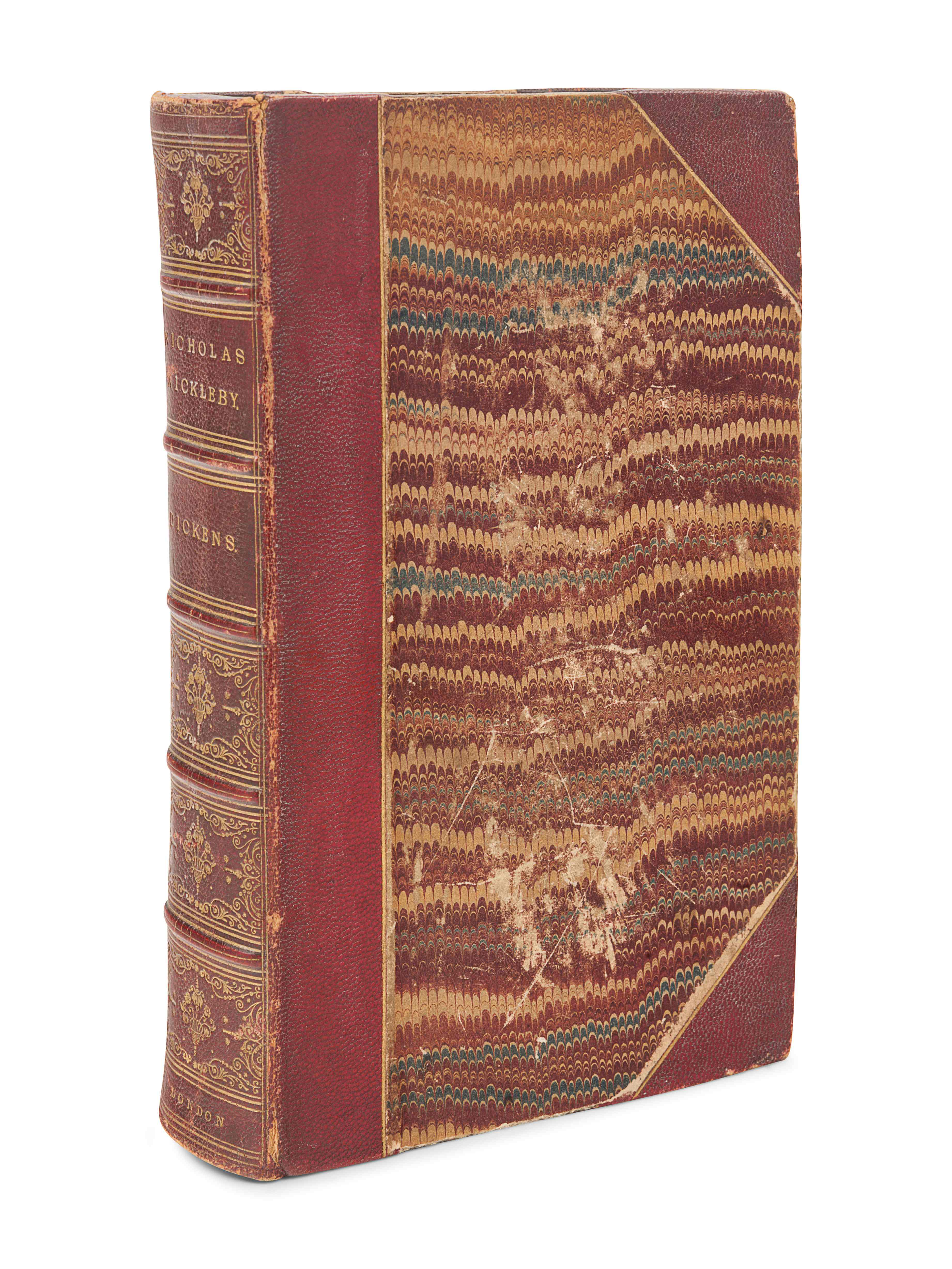 DICKENS, Charles (1812-1870). The Life and Adventures of Nicholas Nickleby. London: Chapman & Hall, - Image 2 of 2