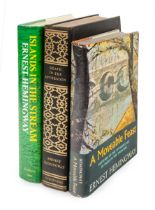 HEMINGWAY, Ernest. A group of 3 FIRST EDITIONS, comprising: