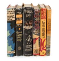 HEMINGWAY, Ernest. A group of 5 FIRST ENGLISH EDITIONS, comprising: