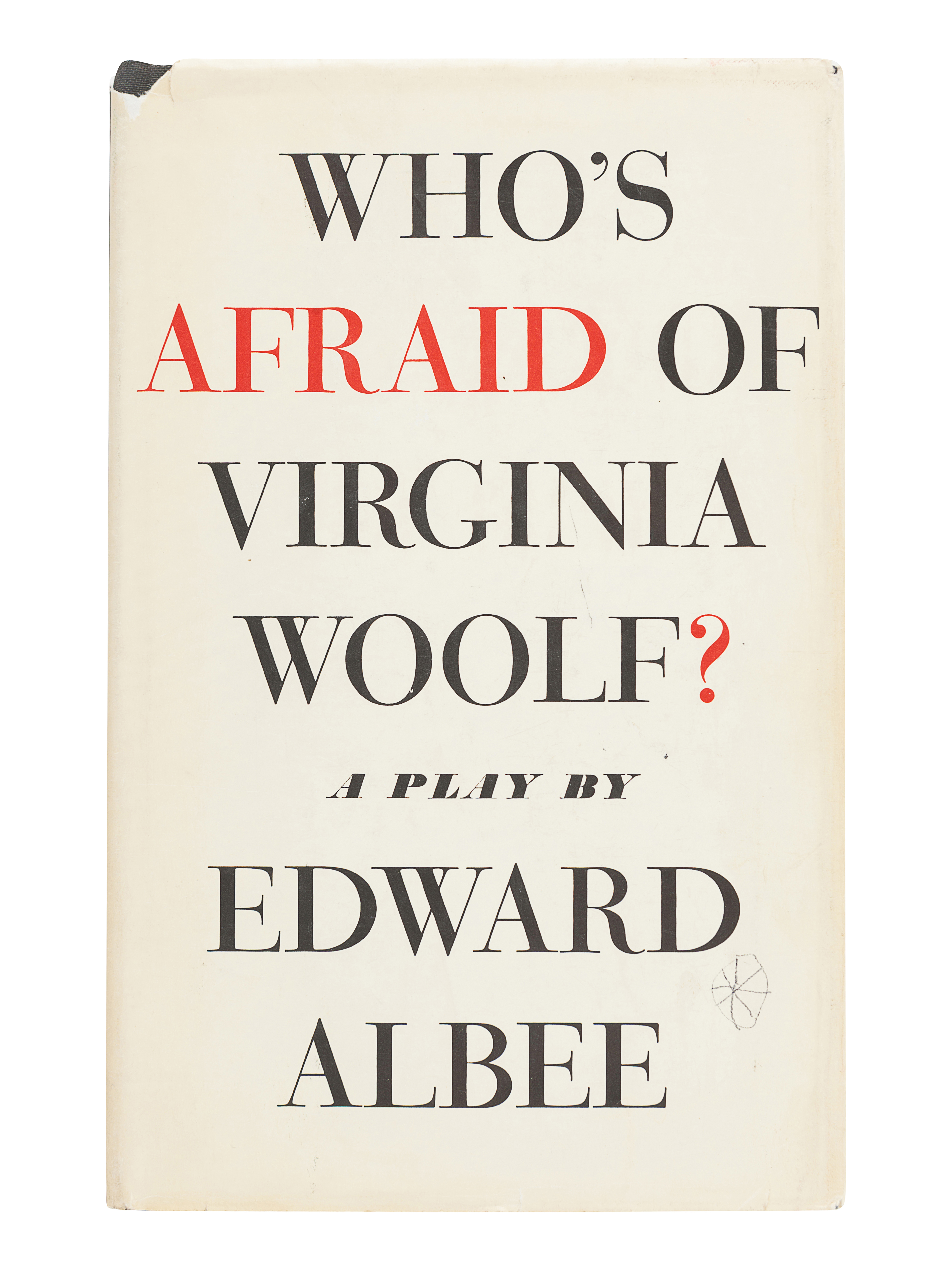 ALBEE, Edward (1928-2016). Who's Afraid of Virginia Woolf? New York: Atheneum, 1962. - Image 2 of 3