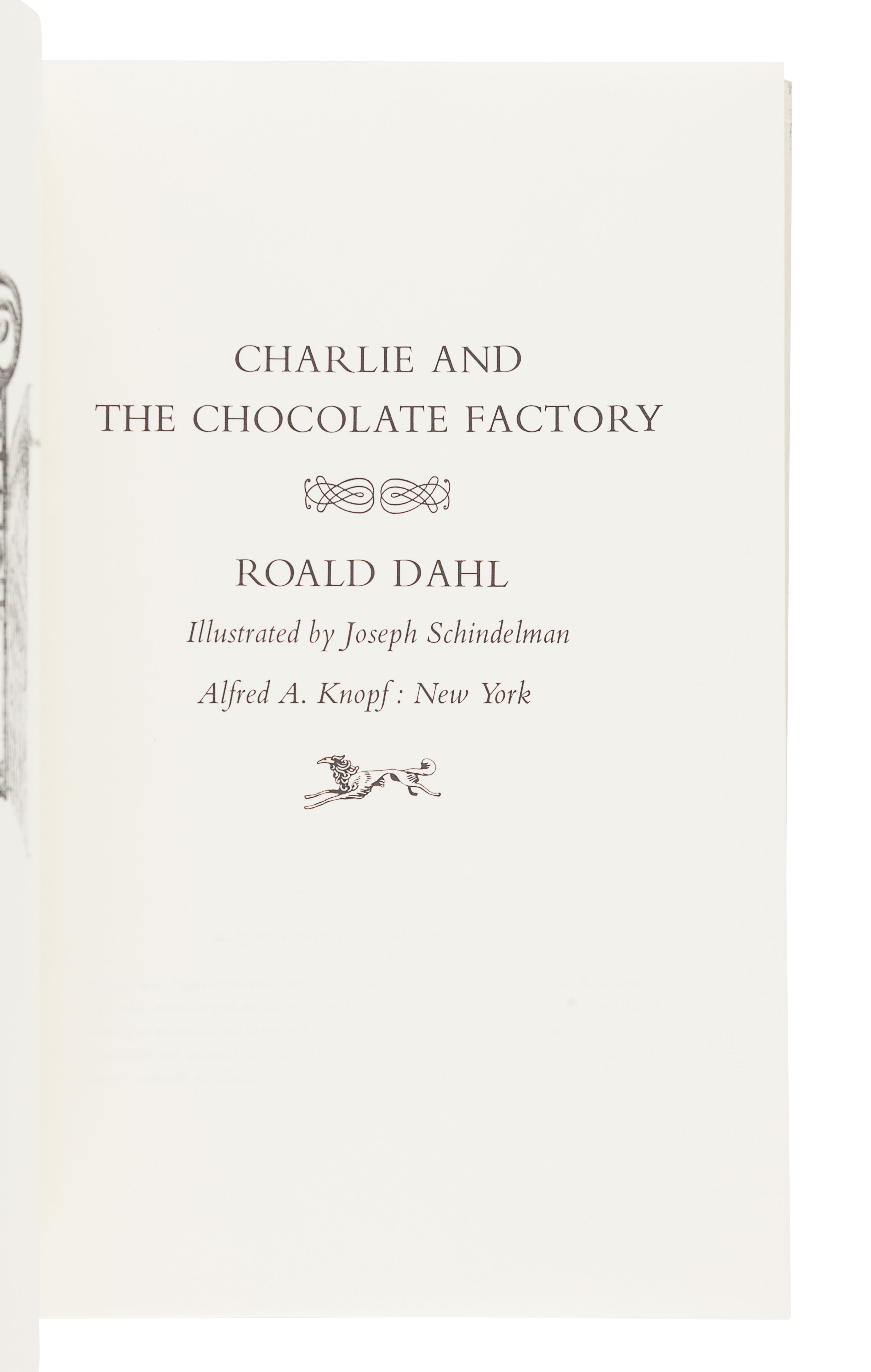 DAHL, Roald (1916-1990). Charlie and the Chocolate Factory. New York: Alfred A. Knopf, 1964. - Image 2 of 3