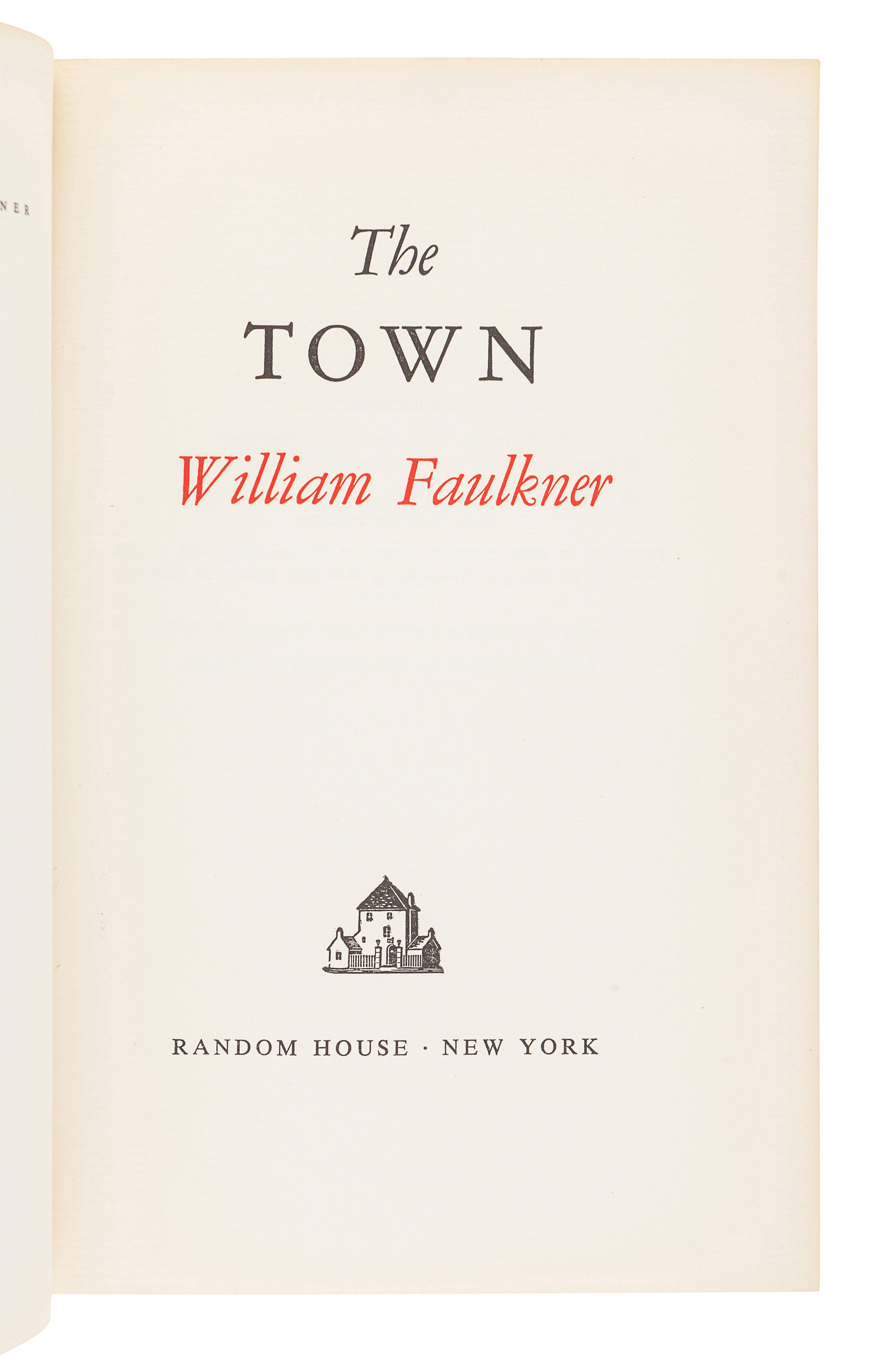 FAULKNER, William (1897-1962). The Town. New York: Random House, 1957. - Image 2 of 3