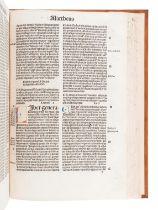 [BIBLE, in Latin]. Biblia. [Basel: Johann Amerbach or Freiburg: Kilian Fischer], 1491.