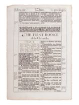 [BIBLE LEAVES - ENGLISH - 16TH AND 17TH CENTURIES]. A group of 8 Bible leaves in English, comprising