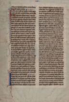 [MANUSCRIPT LEAF -- BIBLE]. One leaf on vellum, in Latin. Germany, ca. 1425.