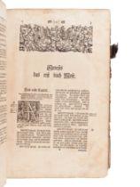 """[BIBLE, in German]. Die gantze Bibel""""¦ Strassburg: Simon Kurtzner, 1744."""