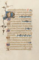 [MANUSCRIPT LEAF -- PSALTER]. One leaf on vellum, in Latin. [England], ca 1420-1440.