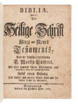 [BIBLE, in German]. Biblia, das ist, Die Heilige Schrift Altes und Neues Testaments. Germantown: Chr