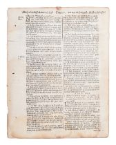 [BIBLE LEAVES - AMERICAN PUBLISHERS]. A group of 11 Bible leaves, comprising: