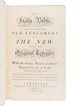 """[BIBLE, in English]. The Holy Bible, containing the Old Testament and the New""""¦ Cambridge: John Bask"""