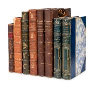[FINE BINDINGS] -- A group of 7 works in 8 volumes with finely bound.
