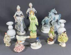 1 Konvolut diverse Figuren etc., unterschiedliche Manufakturen, teilweise beschädigt