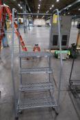 Uline 4-Step Rolling Safety Ladder
