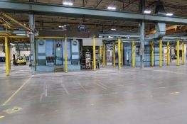 Baker Perkins Inc. Wheelabrator Big Blast Booth, Spray Painting Booth, Sun Hoist Systems Overhead Mo