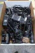 Box Lot of Assorted Walkie Talkies Most Motorola