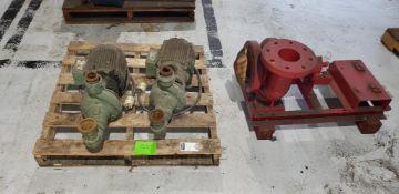 (3pcs) (2) US Electric 5HP/3470RPM Motors W/Pumps & (1) Bell & Gosset Mdl# 4AC Pump